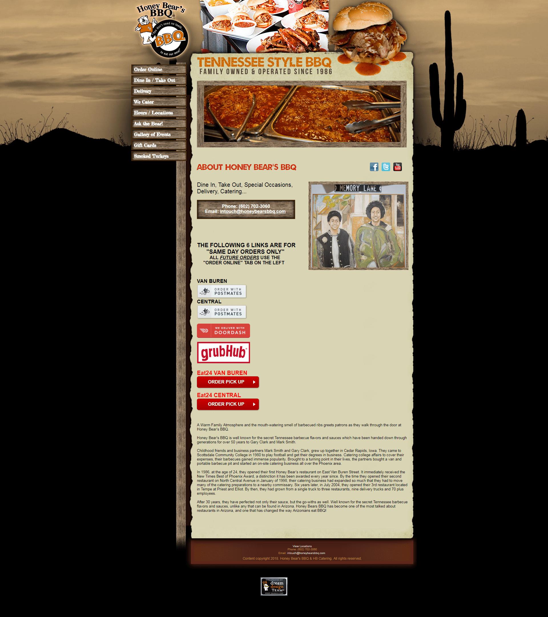 Honey Bear's BBQ, Inc. - old site - v7