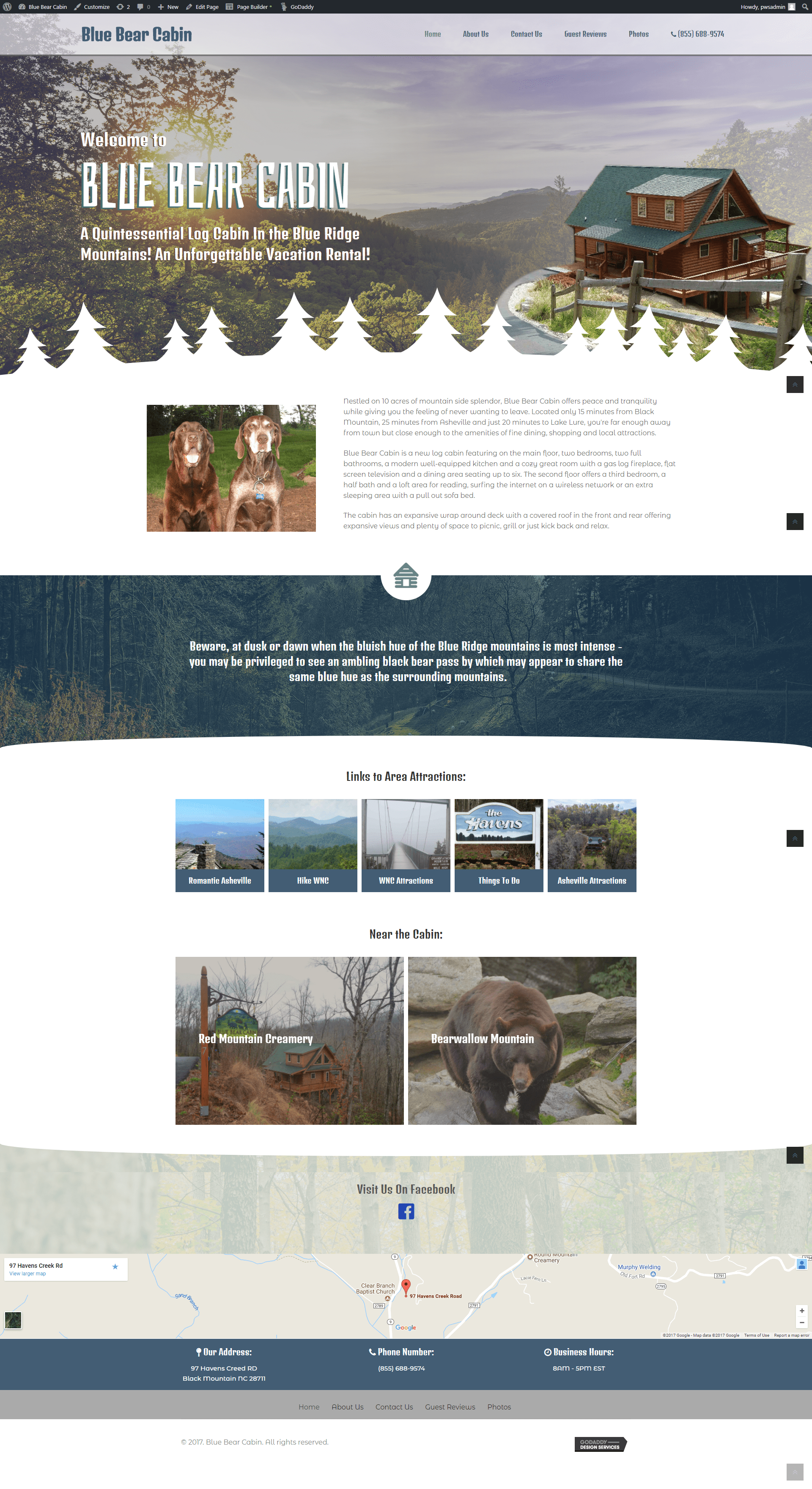 blue bear cabin - new site - wp