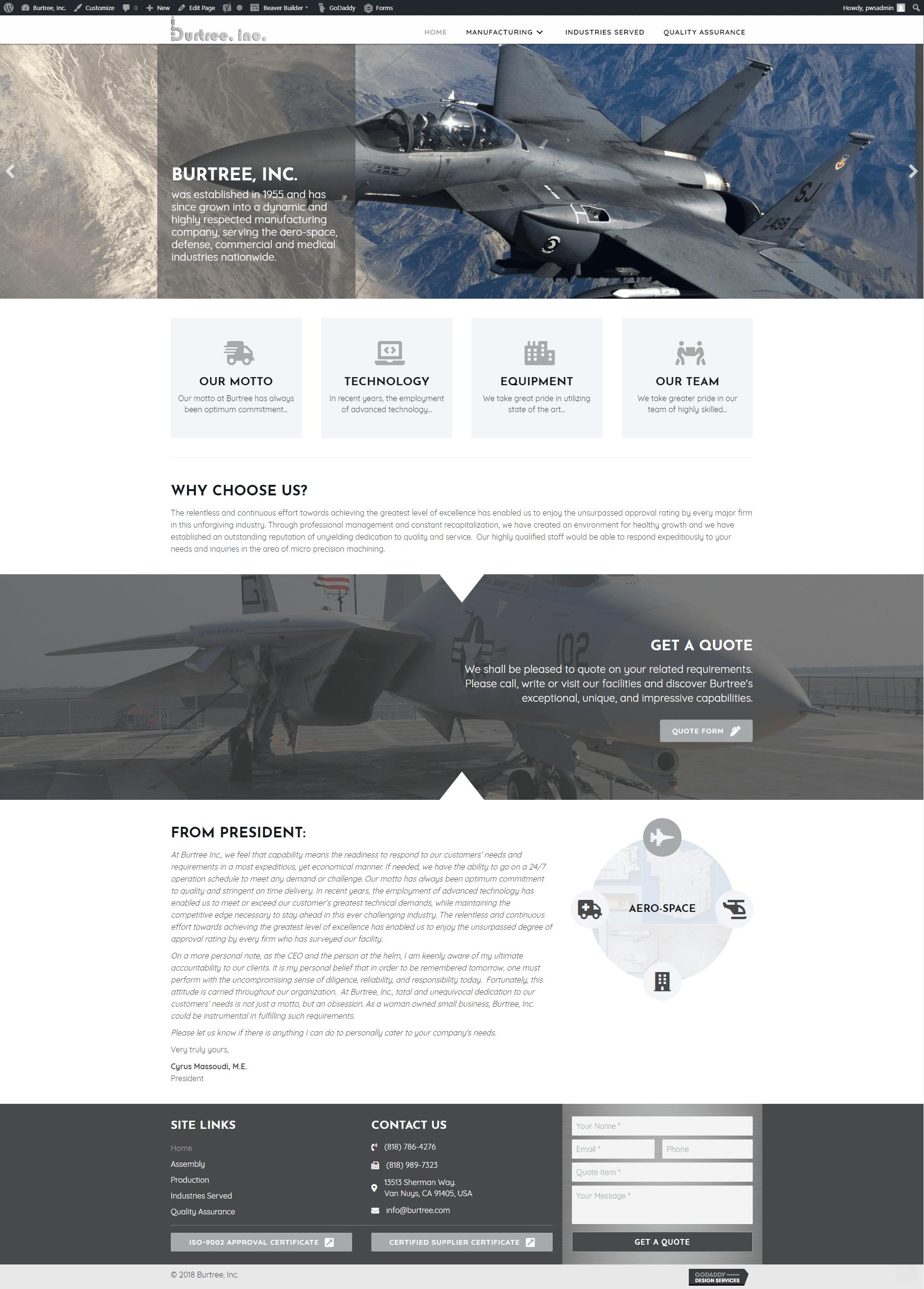 burtree - new site - wp