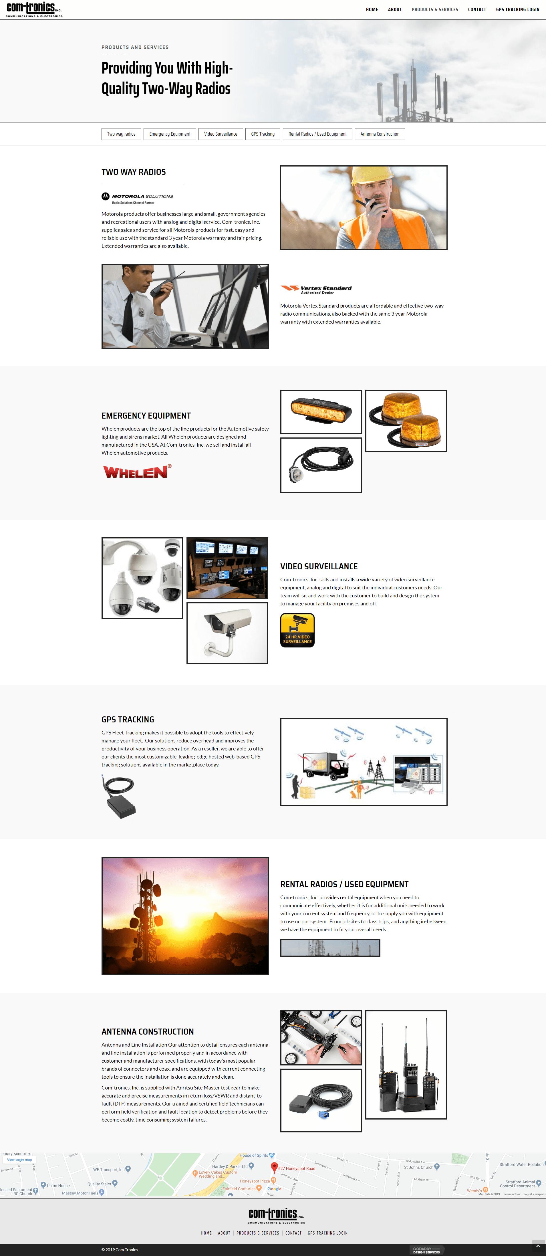 Com-Tronics - products services after QA