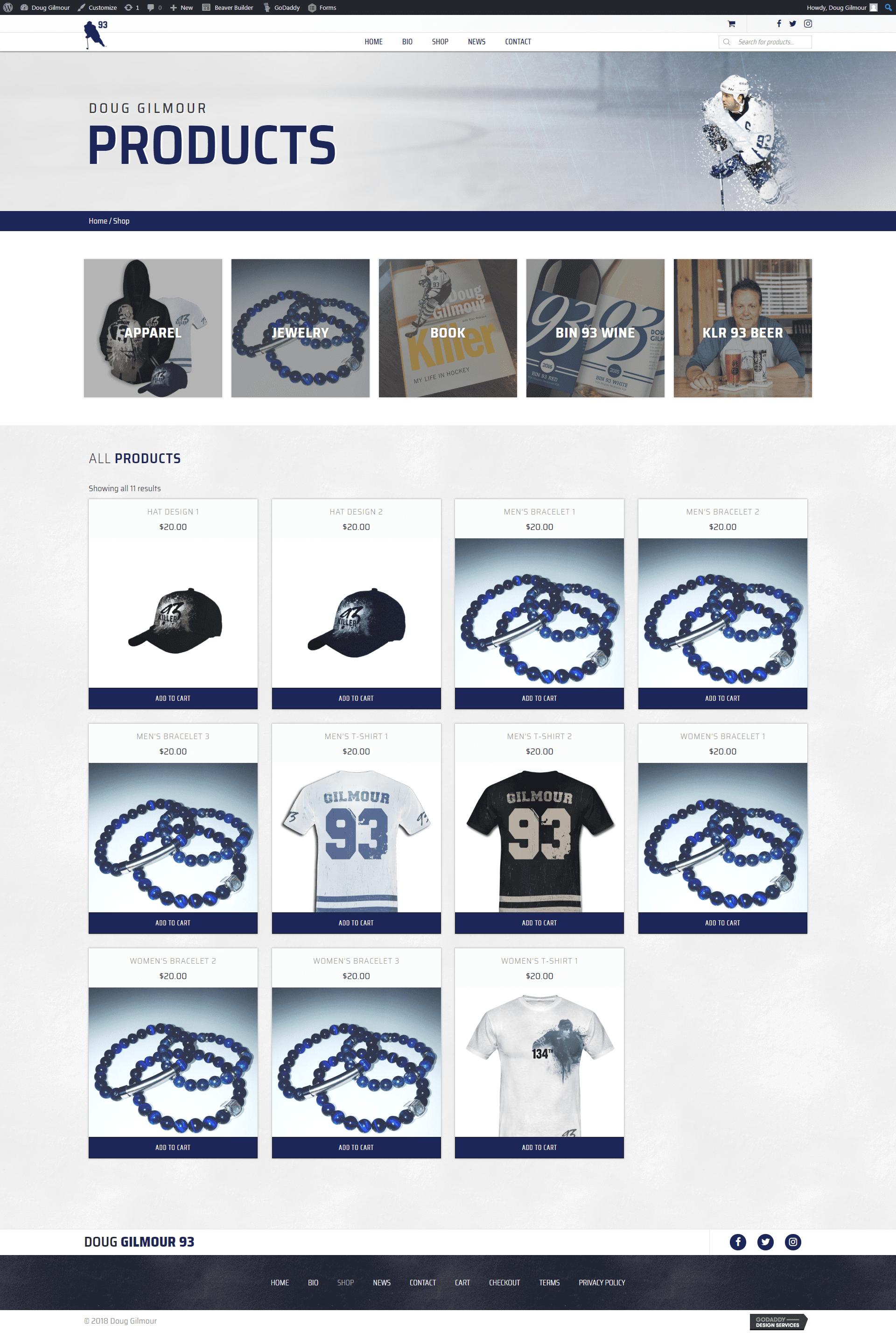 Doug Gilmour Site - shop