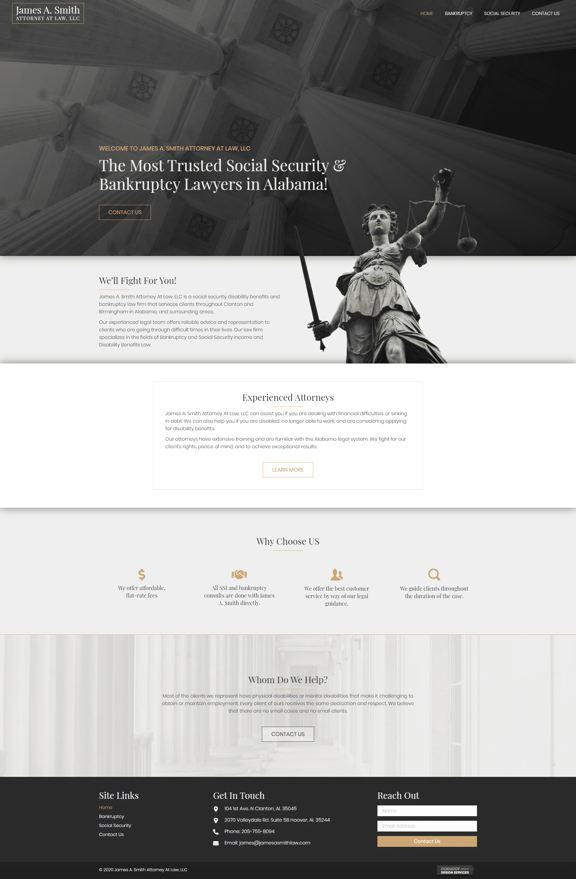james a smith law - desktop