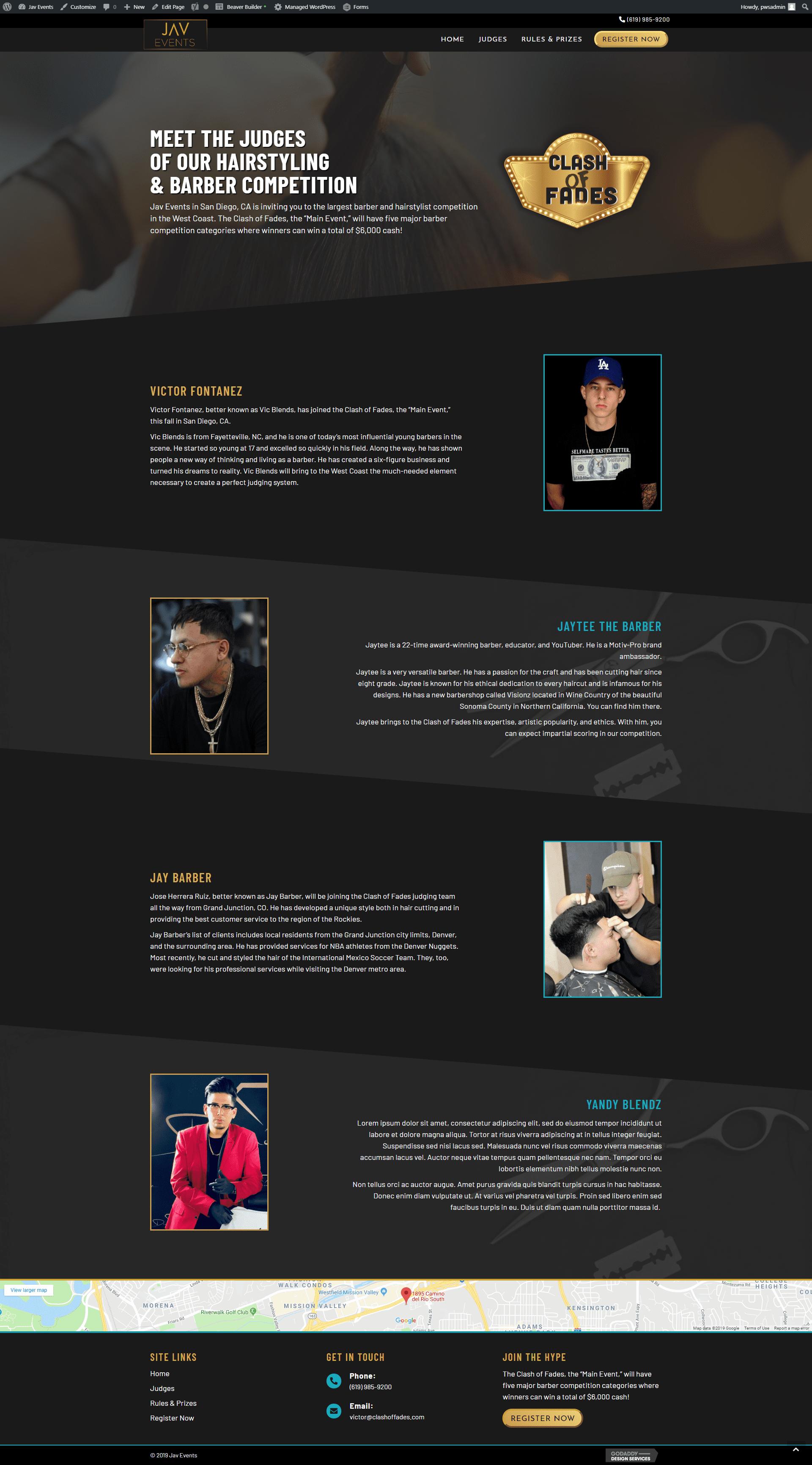 jav events hair site - judges