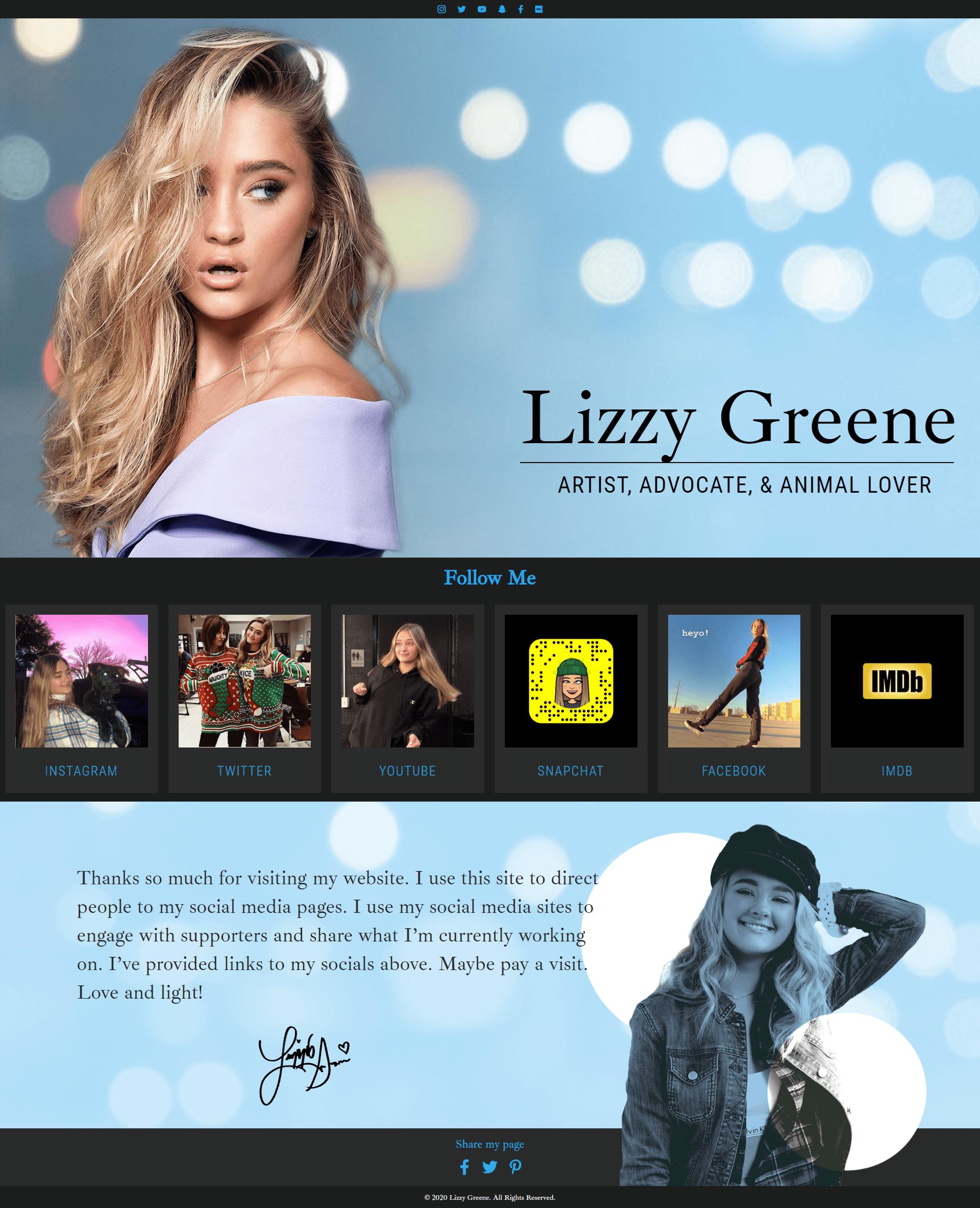 lizzygreene - desktop
