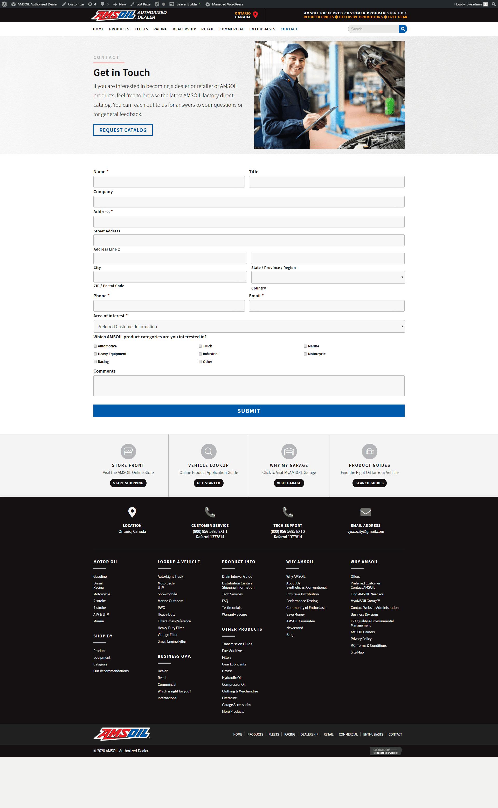 screencapture-amsoil dealer - contact new site