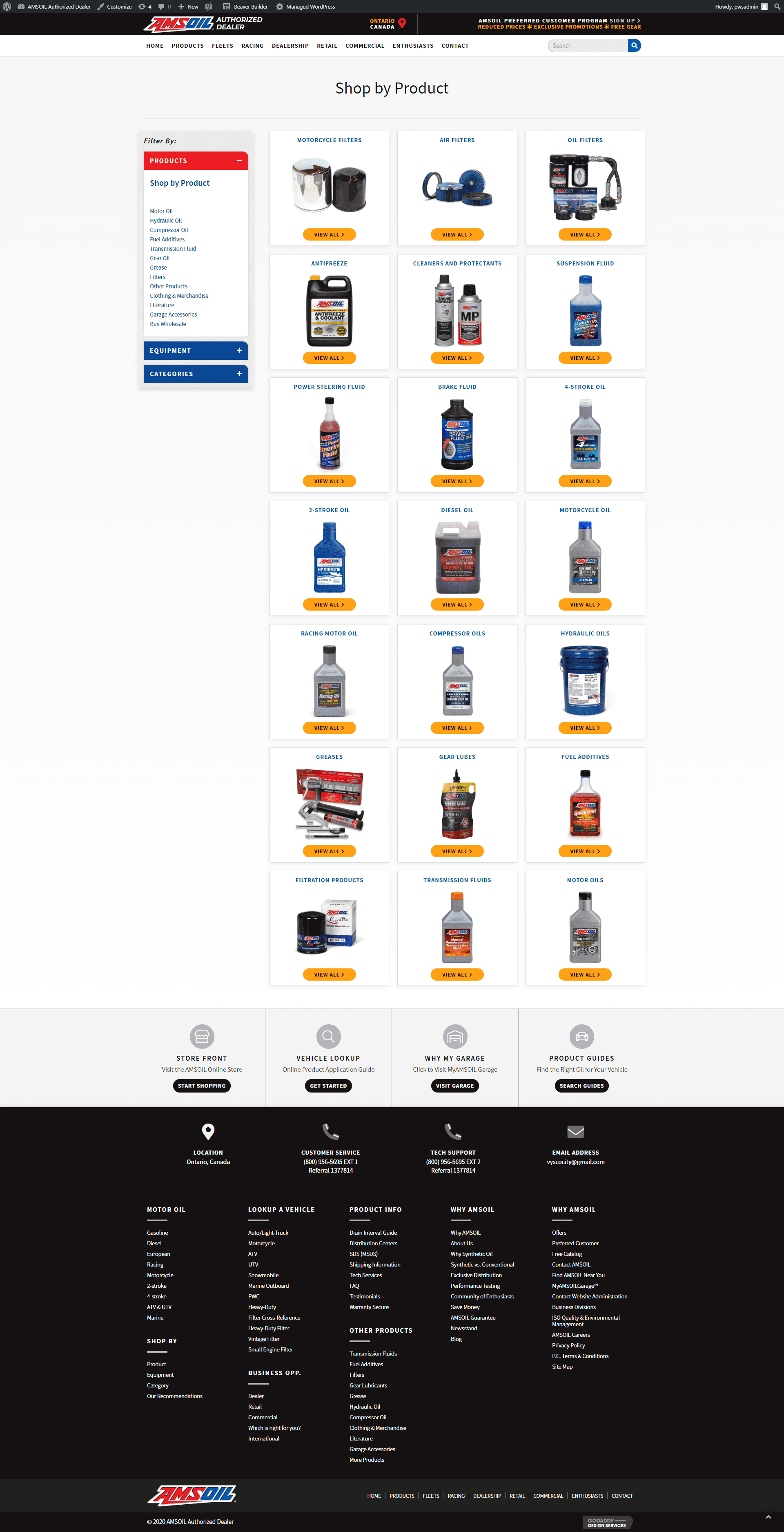 screencapture-amsoil dealer - products new site