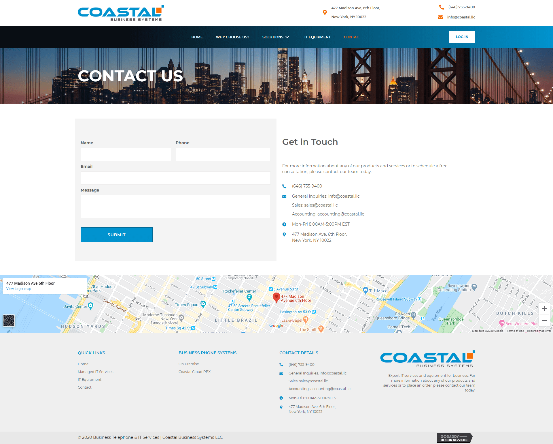 Coastal Business Systems Contact Page