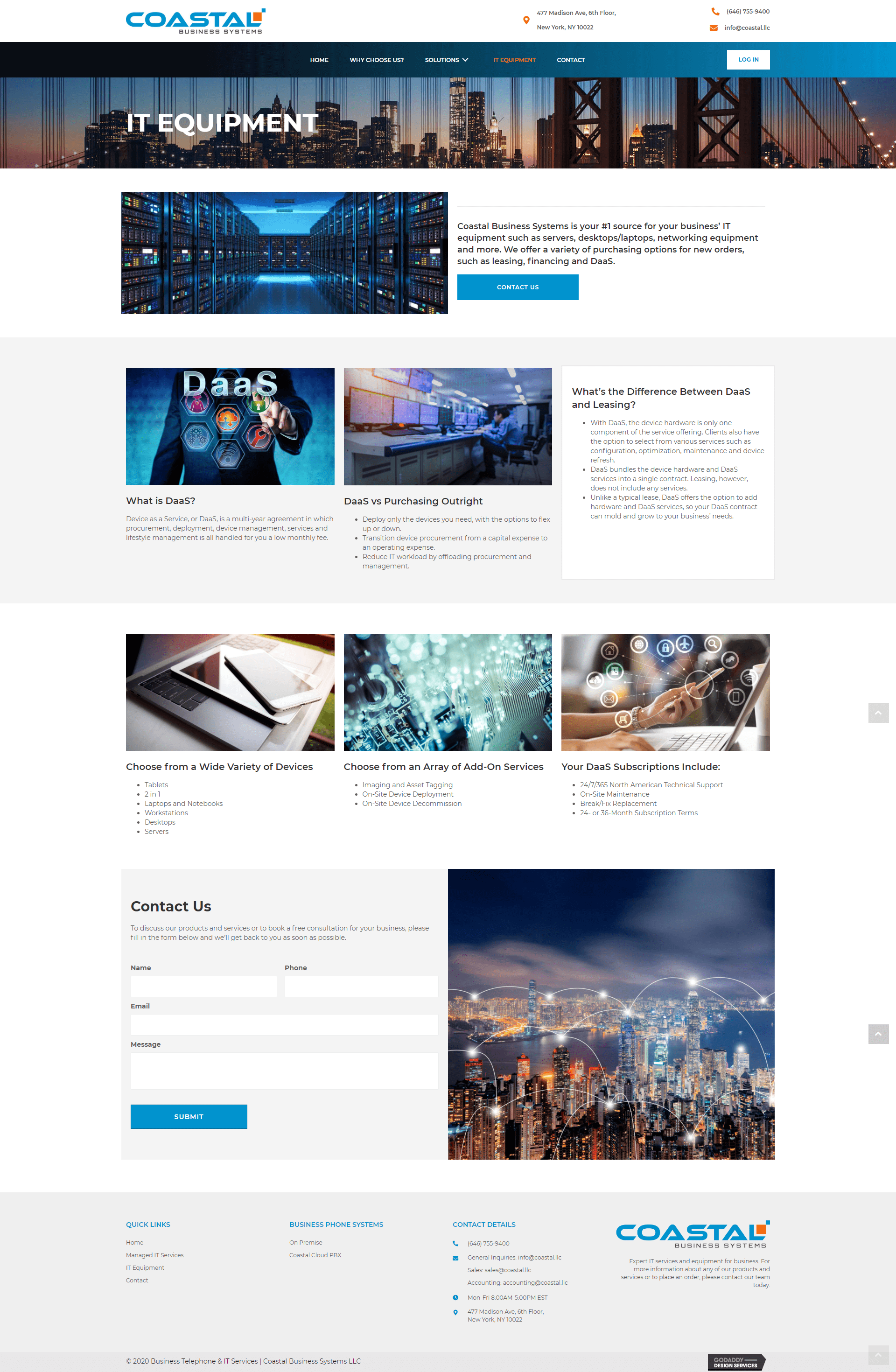 Coastal Business Systems It Equipment Page