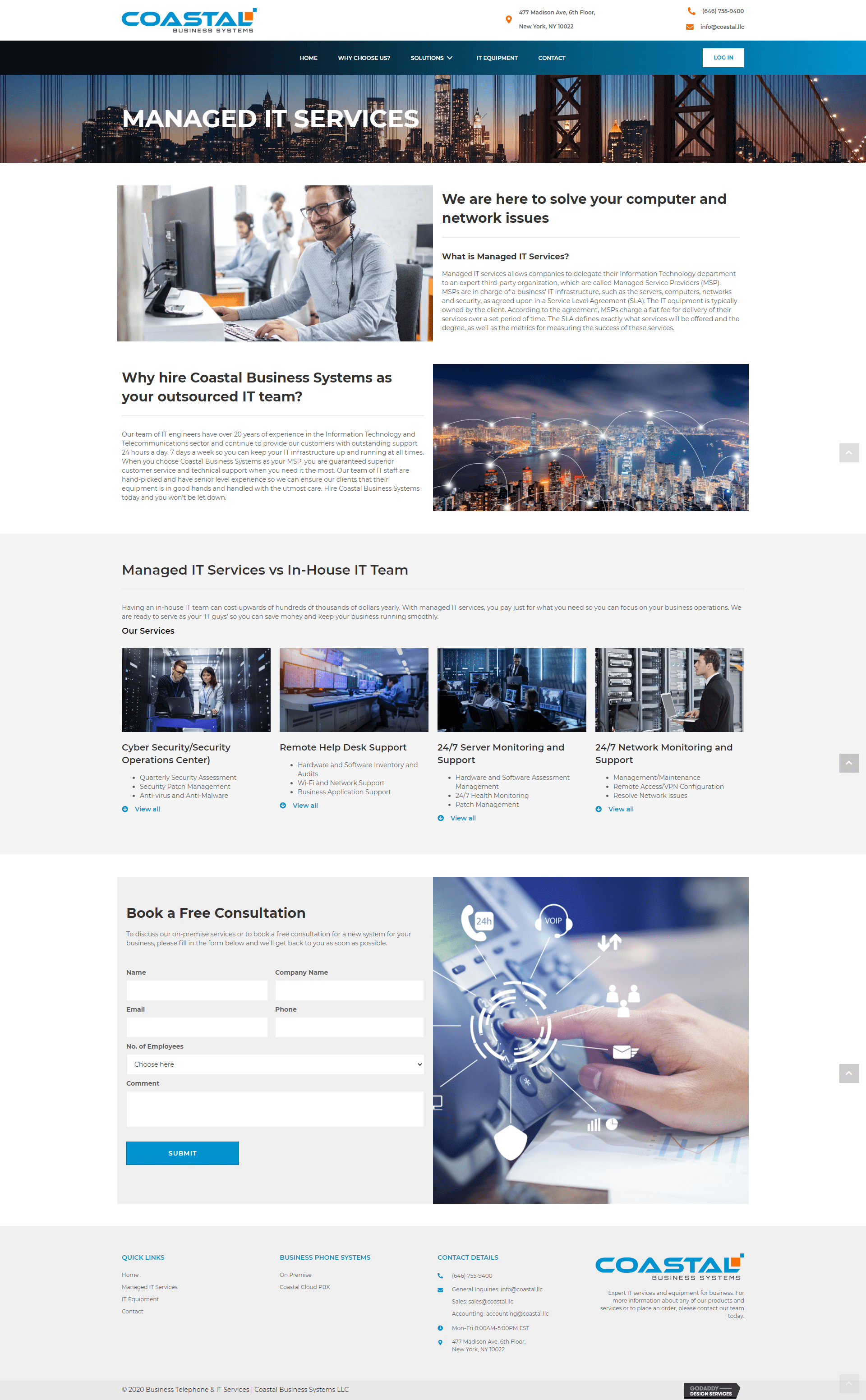 Coastal Business Systems Service - Managed it Services Page