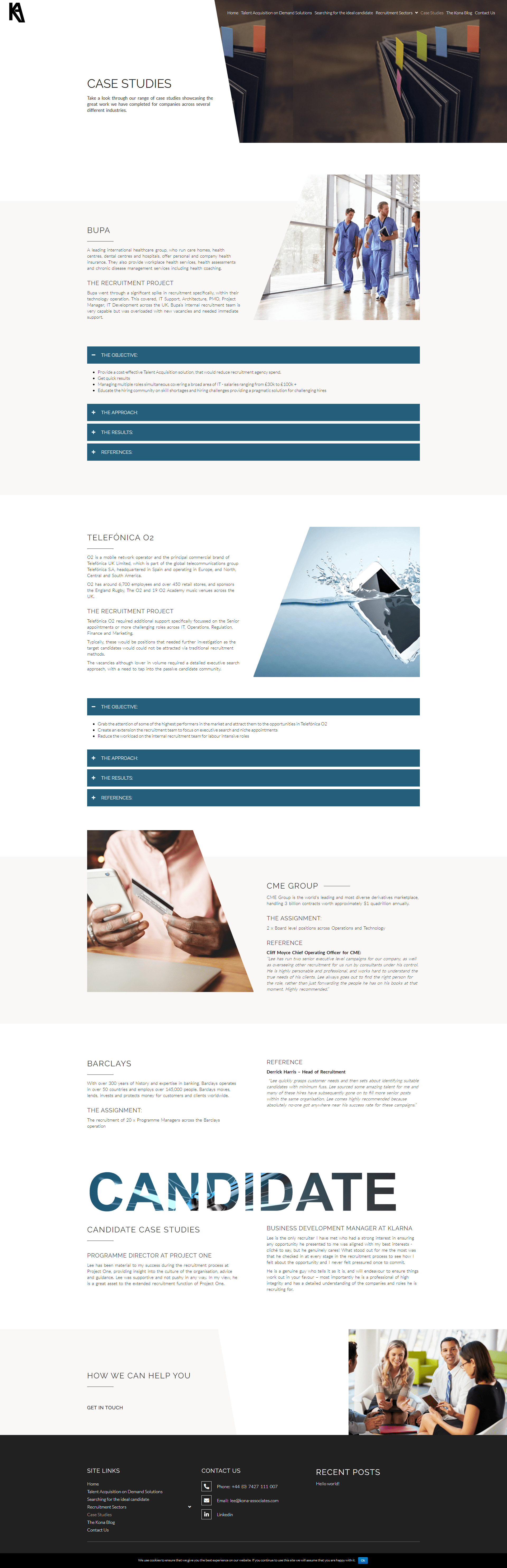 Kona Associates Case Studies Page