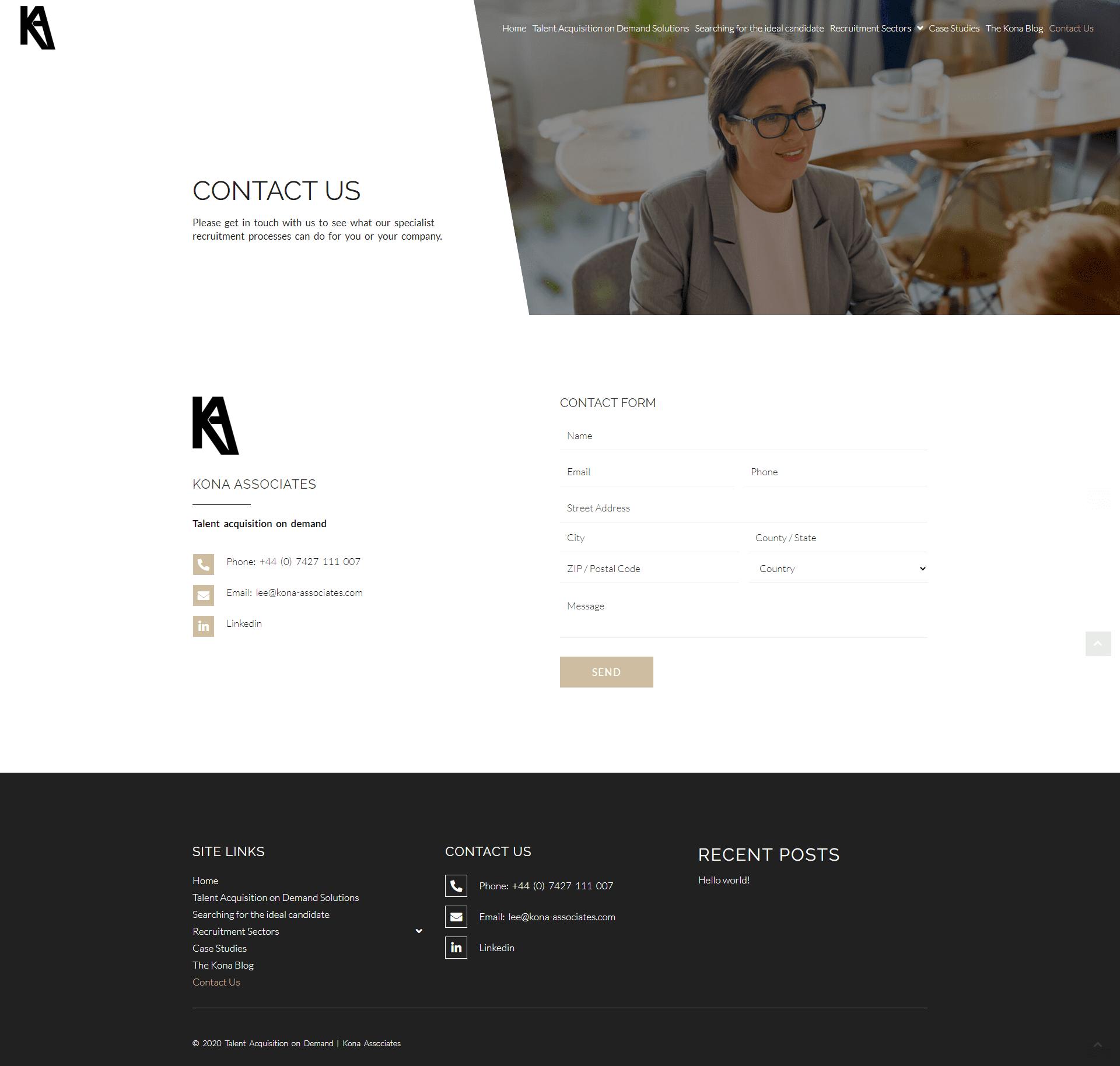 Kona Associates Contact Page