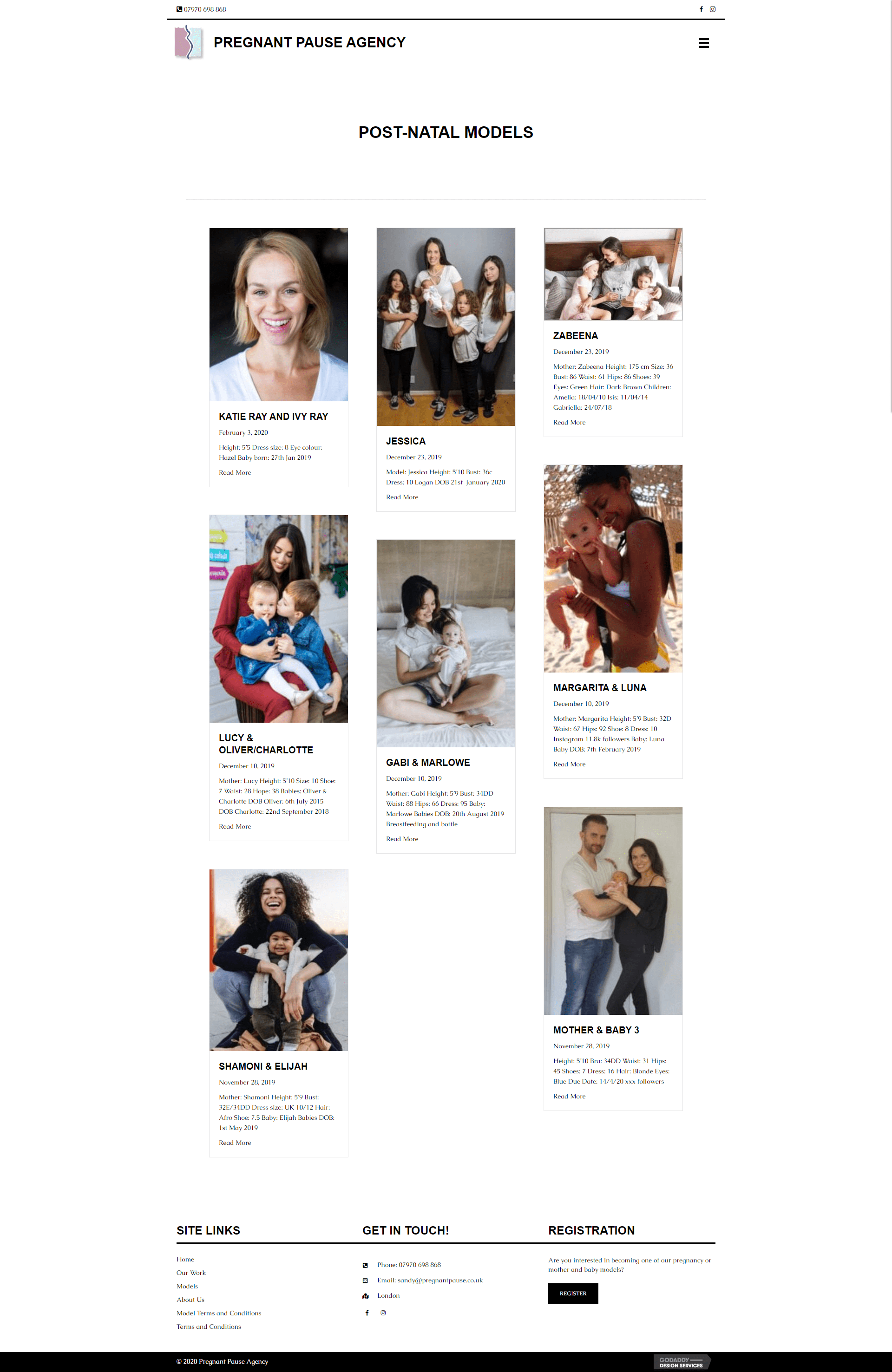 Pregnant Pause Agency Models Page