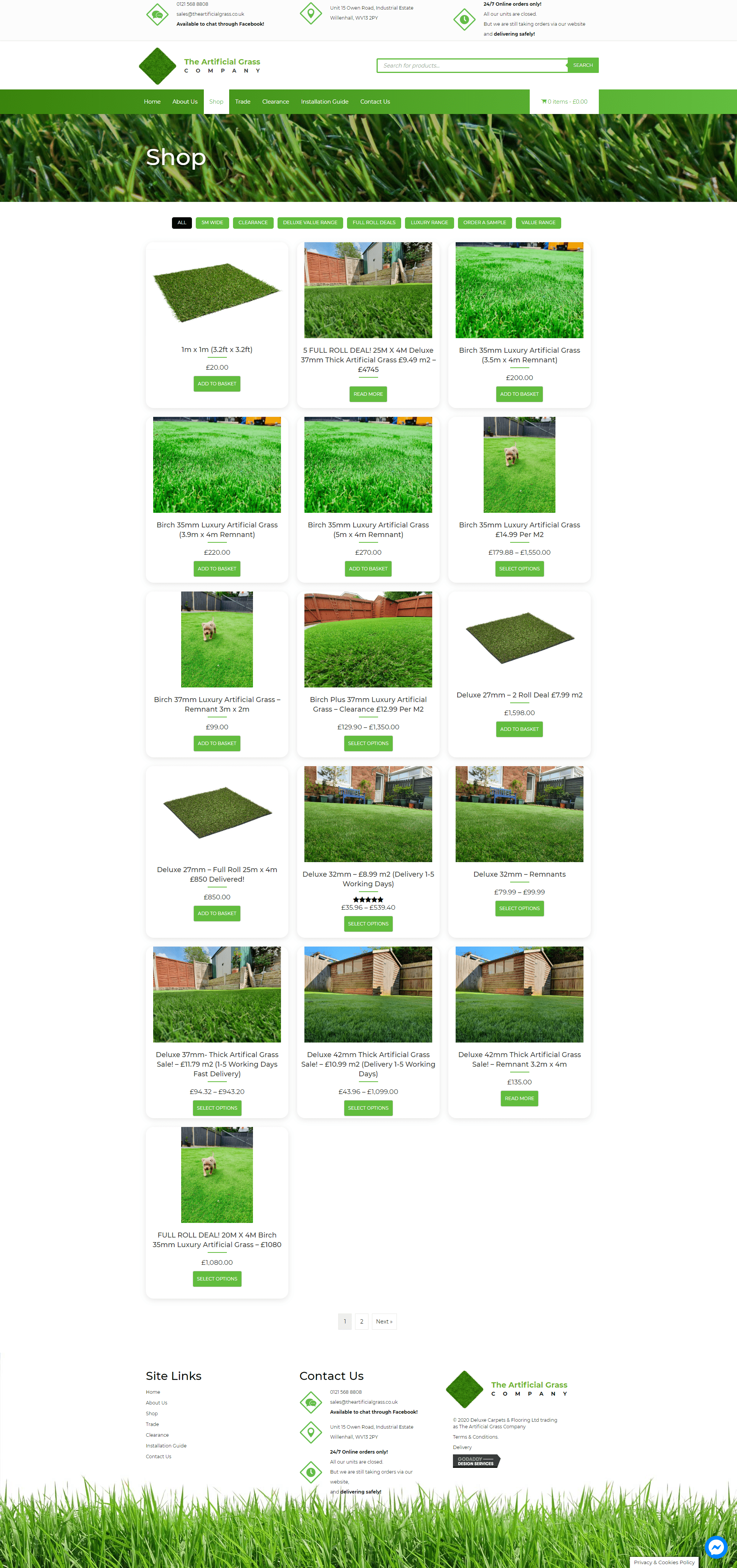 The artificial grass company Store Pafe