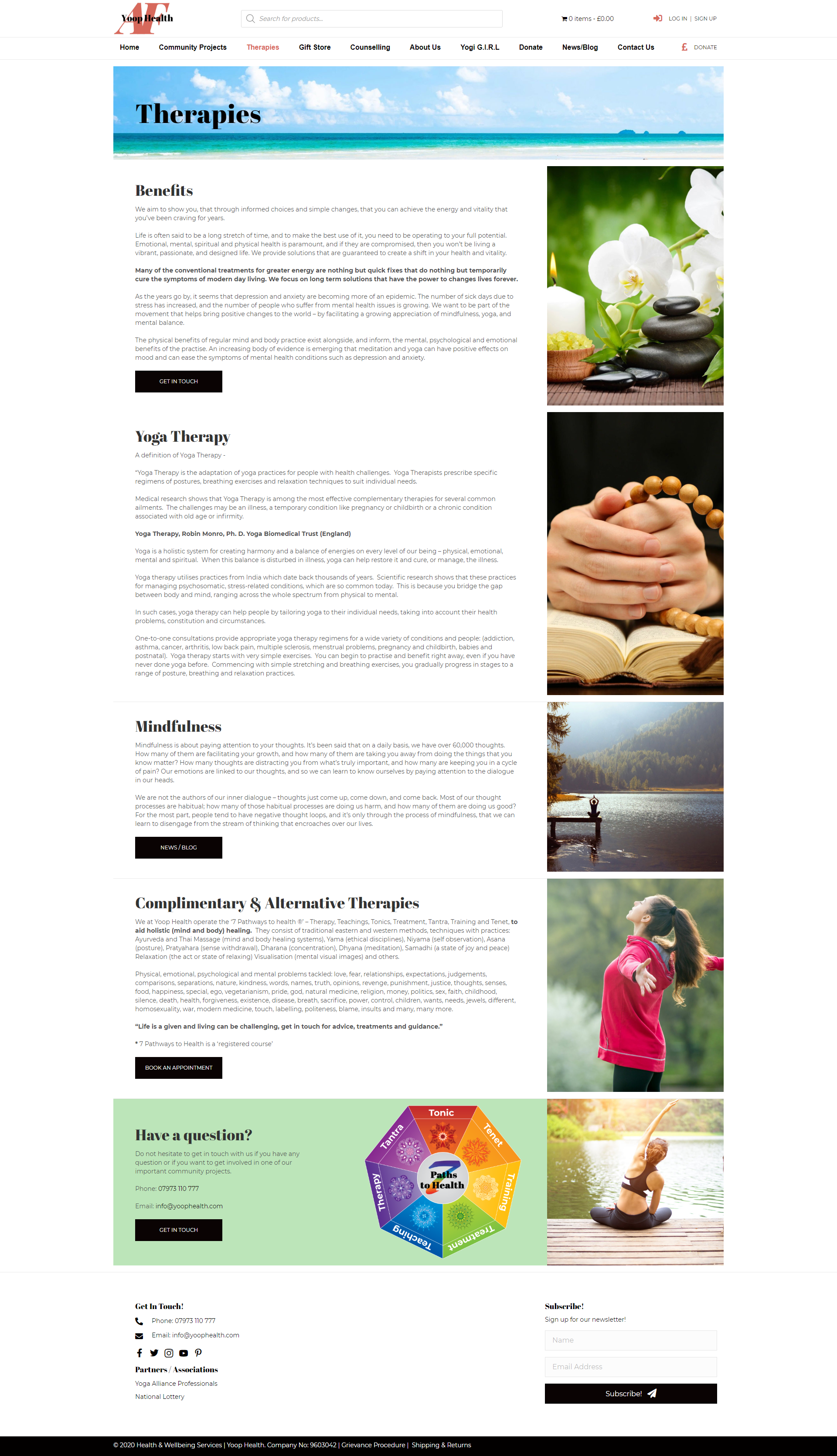 Yoop Health Therapies Page