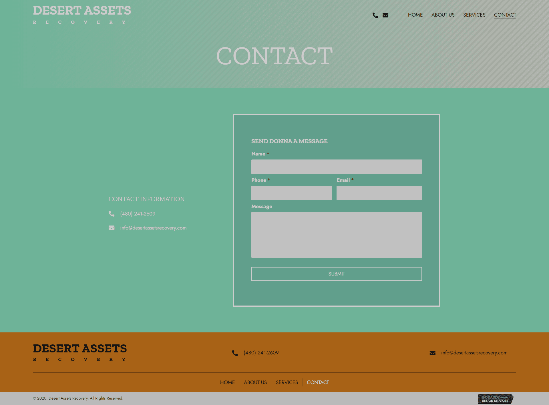 Desert Assets Recovery Contact Page