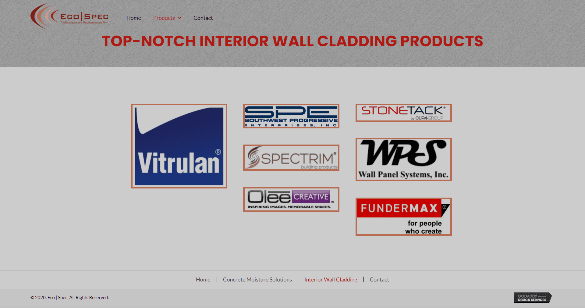 Eco Spec Wall Cladding Page