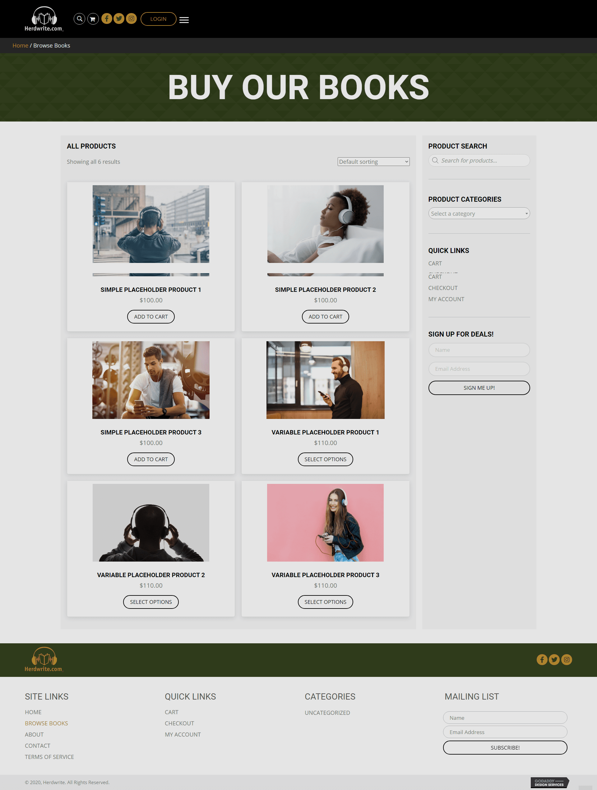 Herdwrite Shop Page