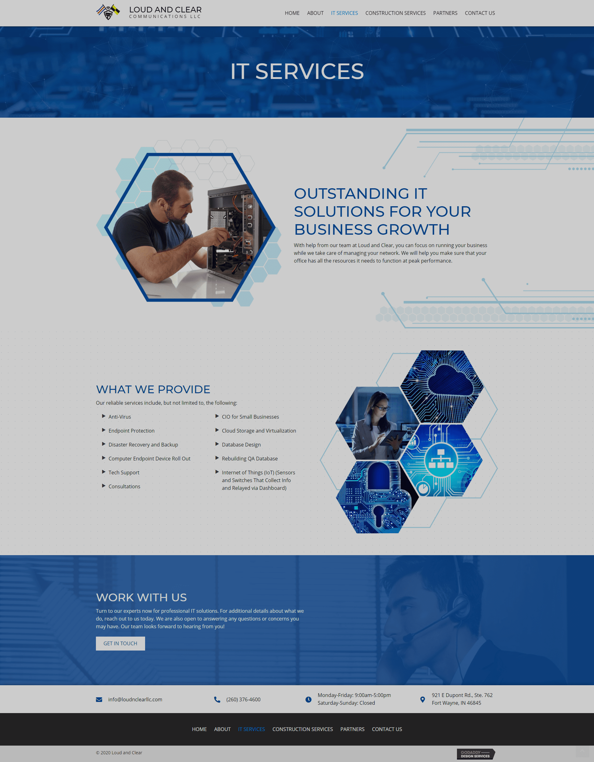 Loud and Clear LLC IT Services Page