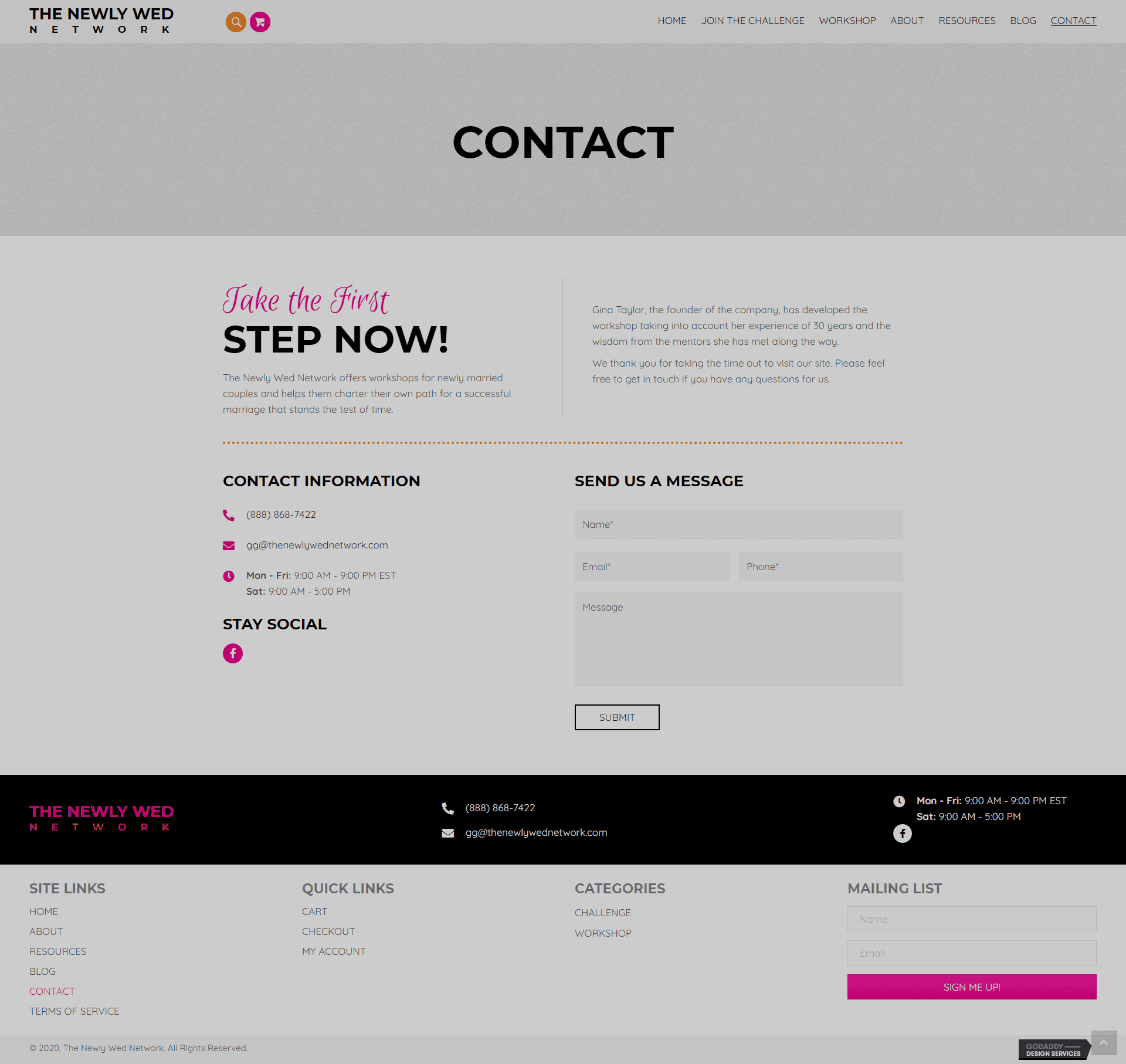 The Newly Wed Network Contact Page