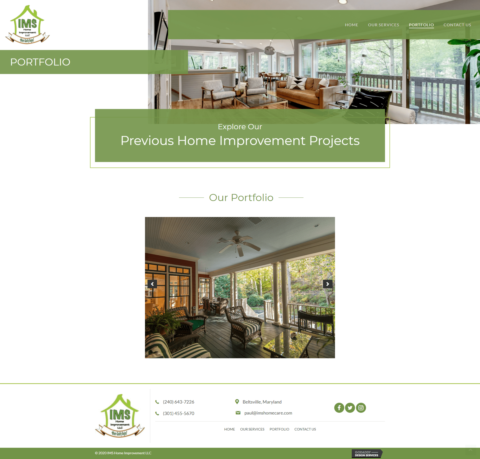 IMS Home Improvement Portfolio Page