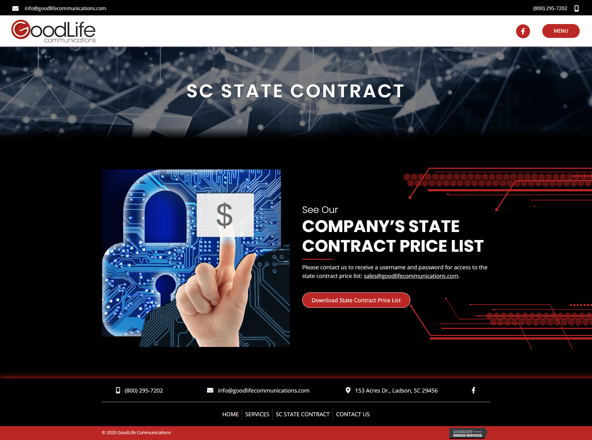 GoodLife Communications Contract Page