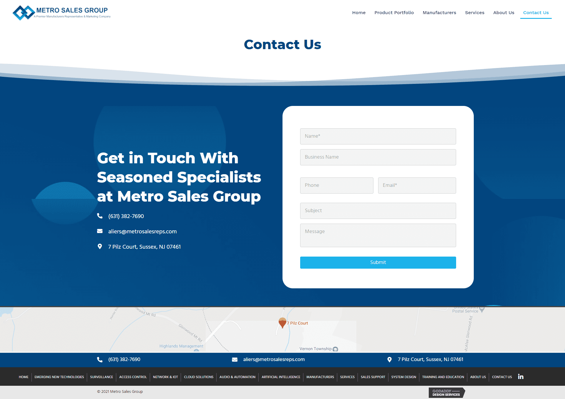 Metro Sales Group Contact