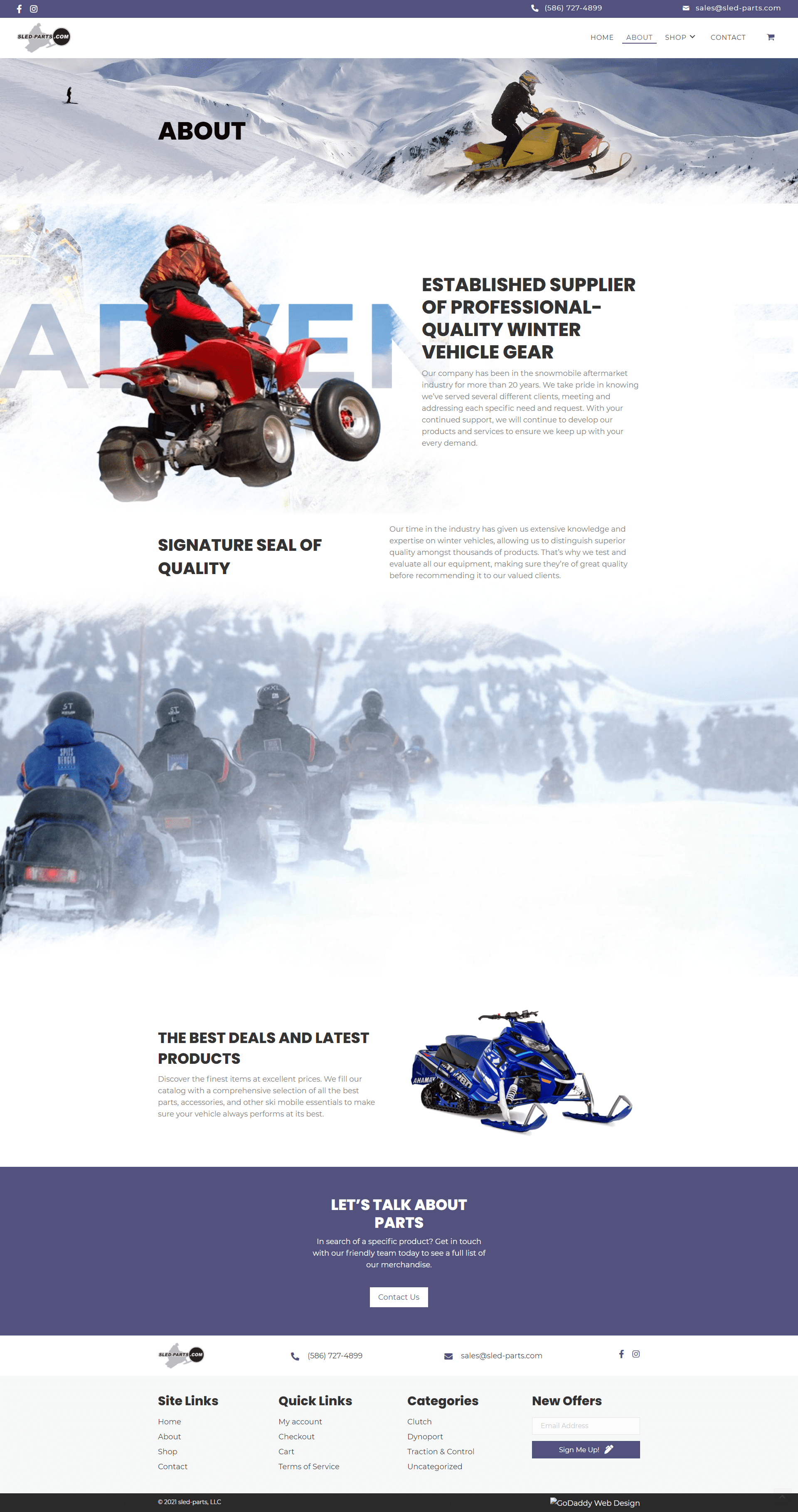 sled-parts, LLC About