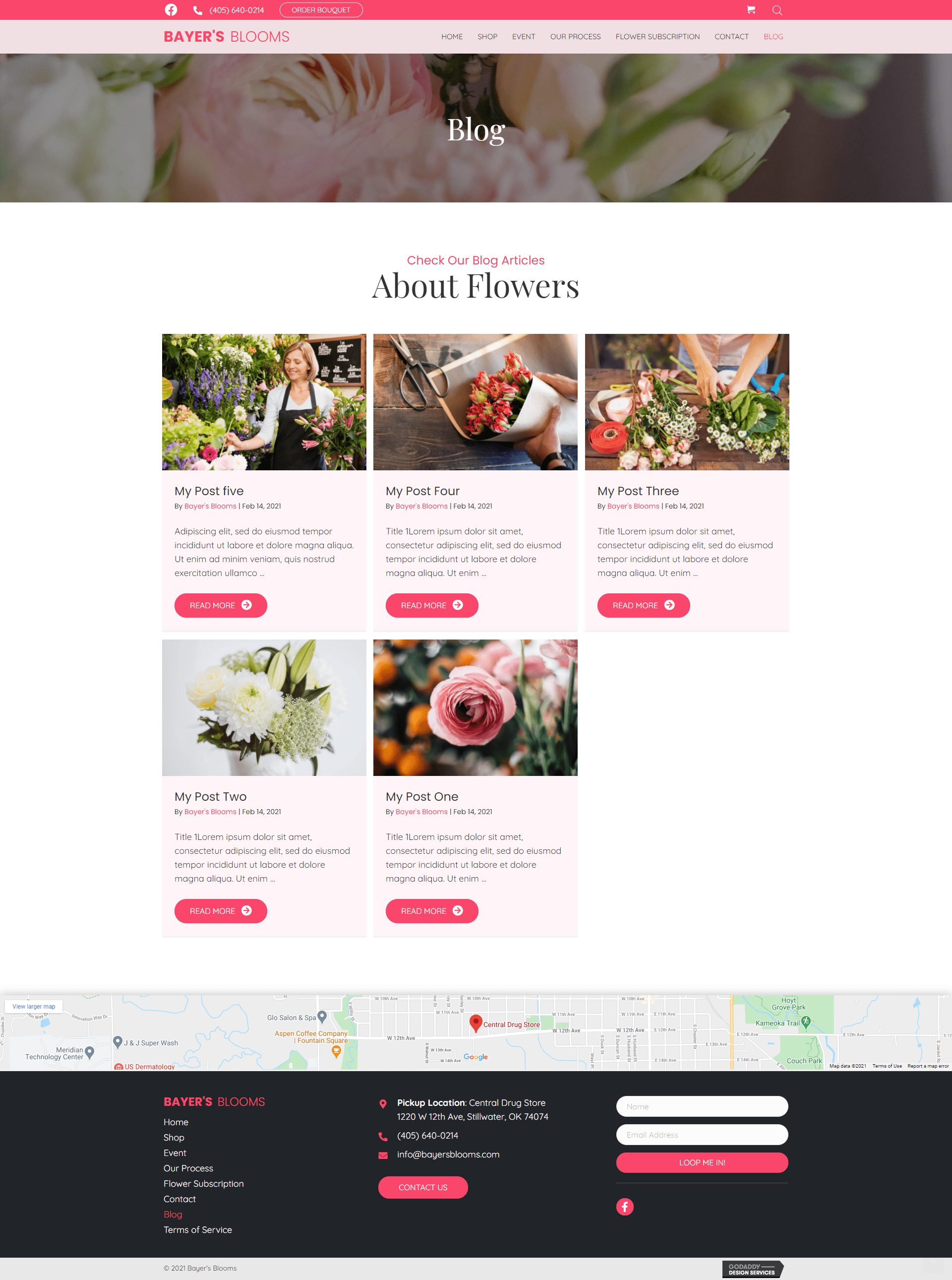 Bayer's Blooms blog