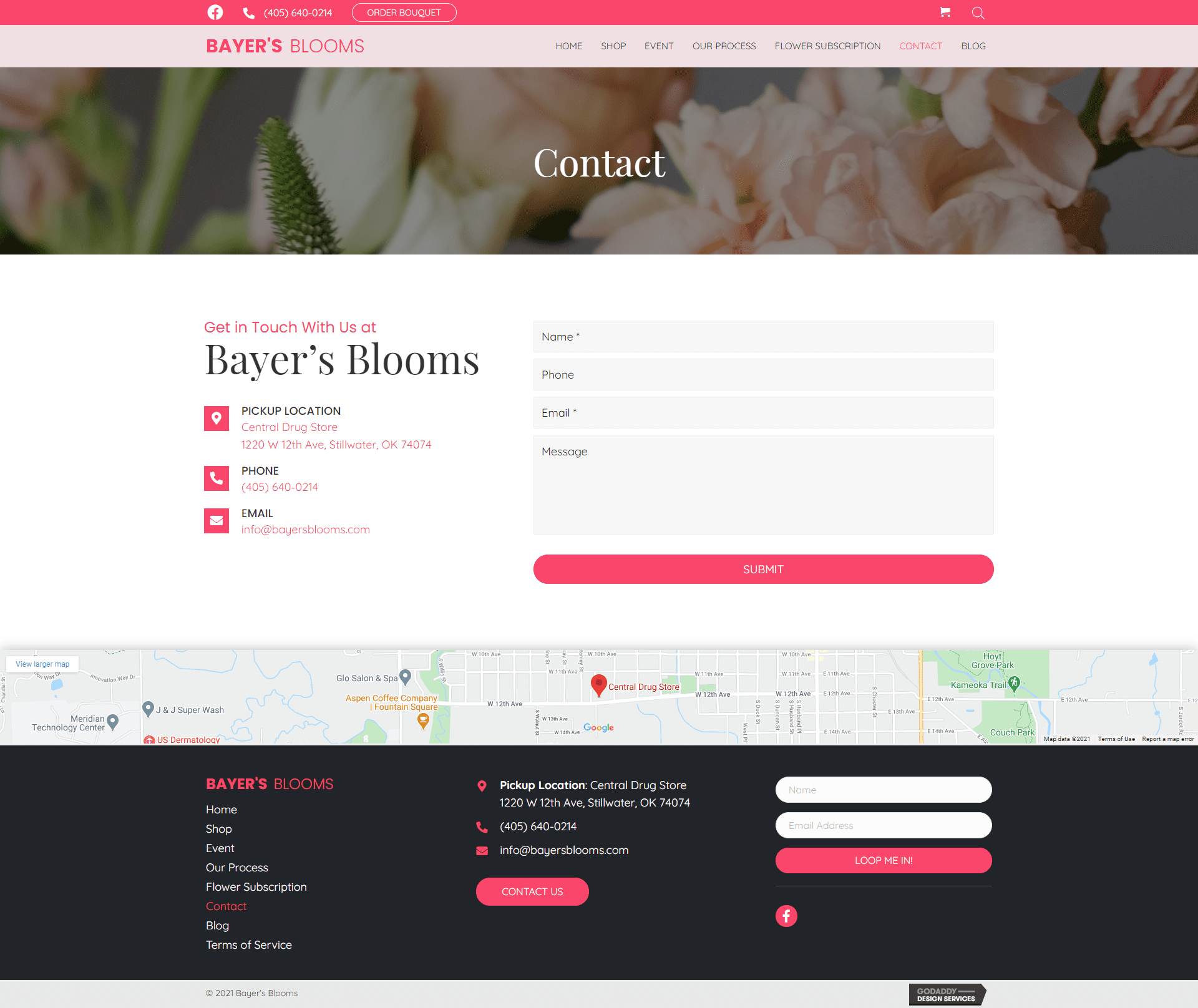 Bayer's Blooms contact