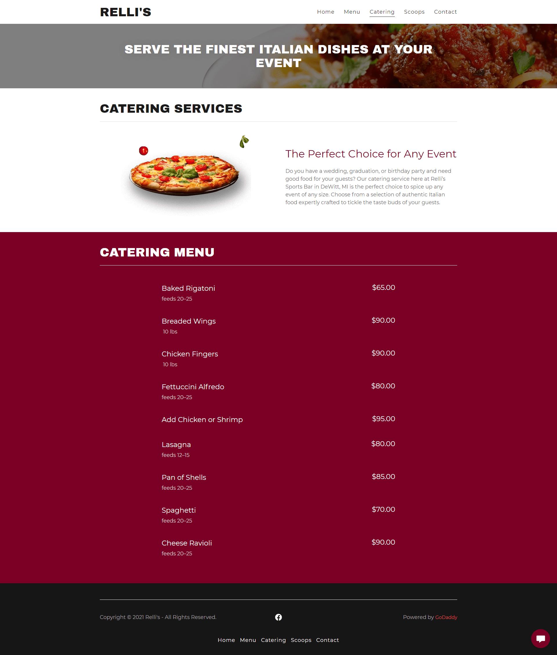 httpsrellis.godaddysites.com catering