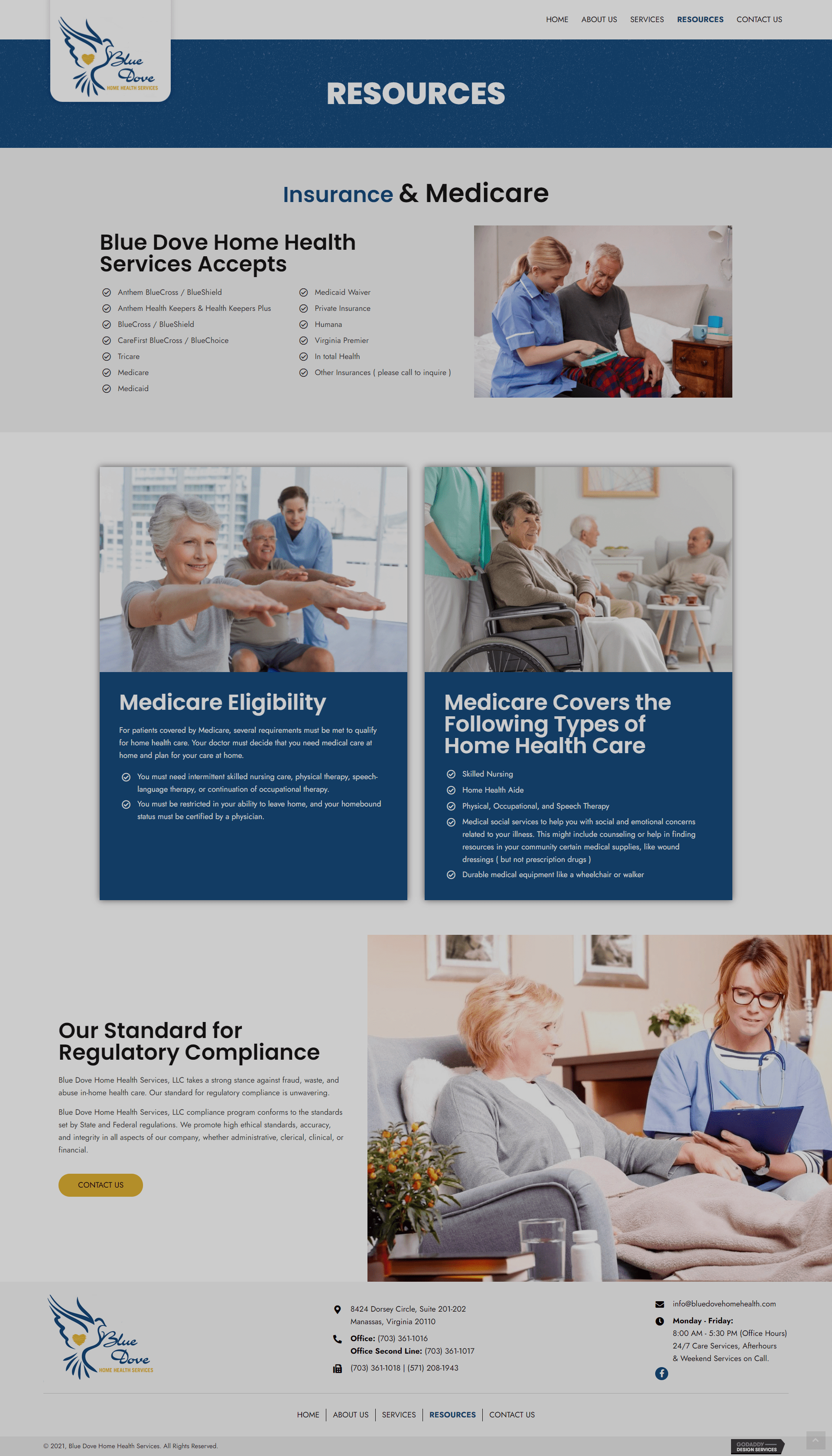 Blue Dove Home Health Services Resources