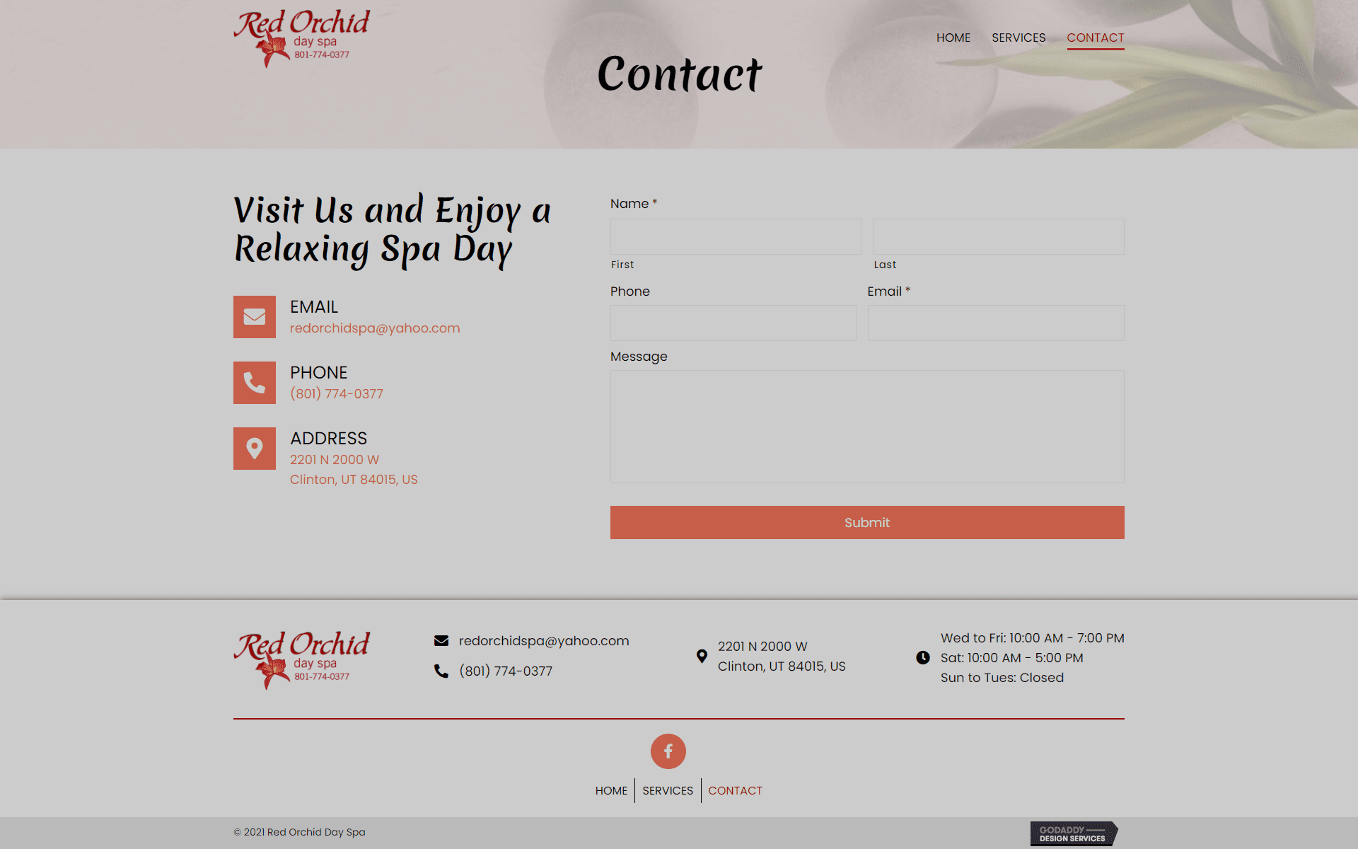 Red Orchid Day Spa Contact