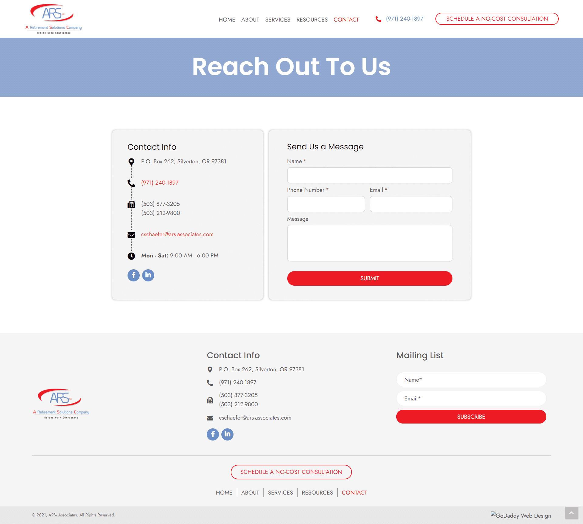 ARS- Associates Contact