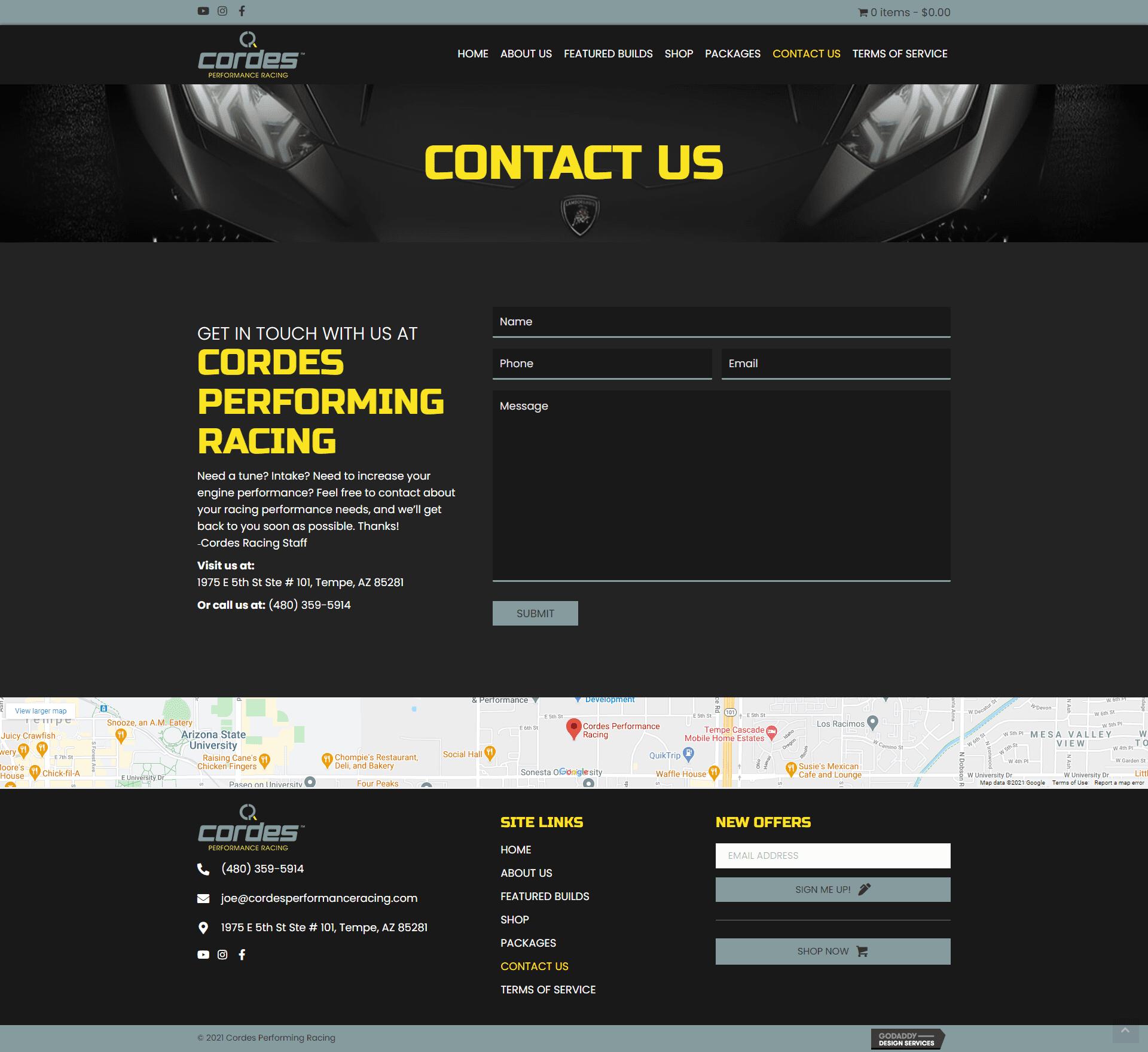 Cordes Performing Racing Contact