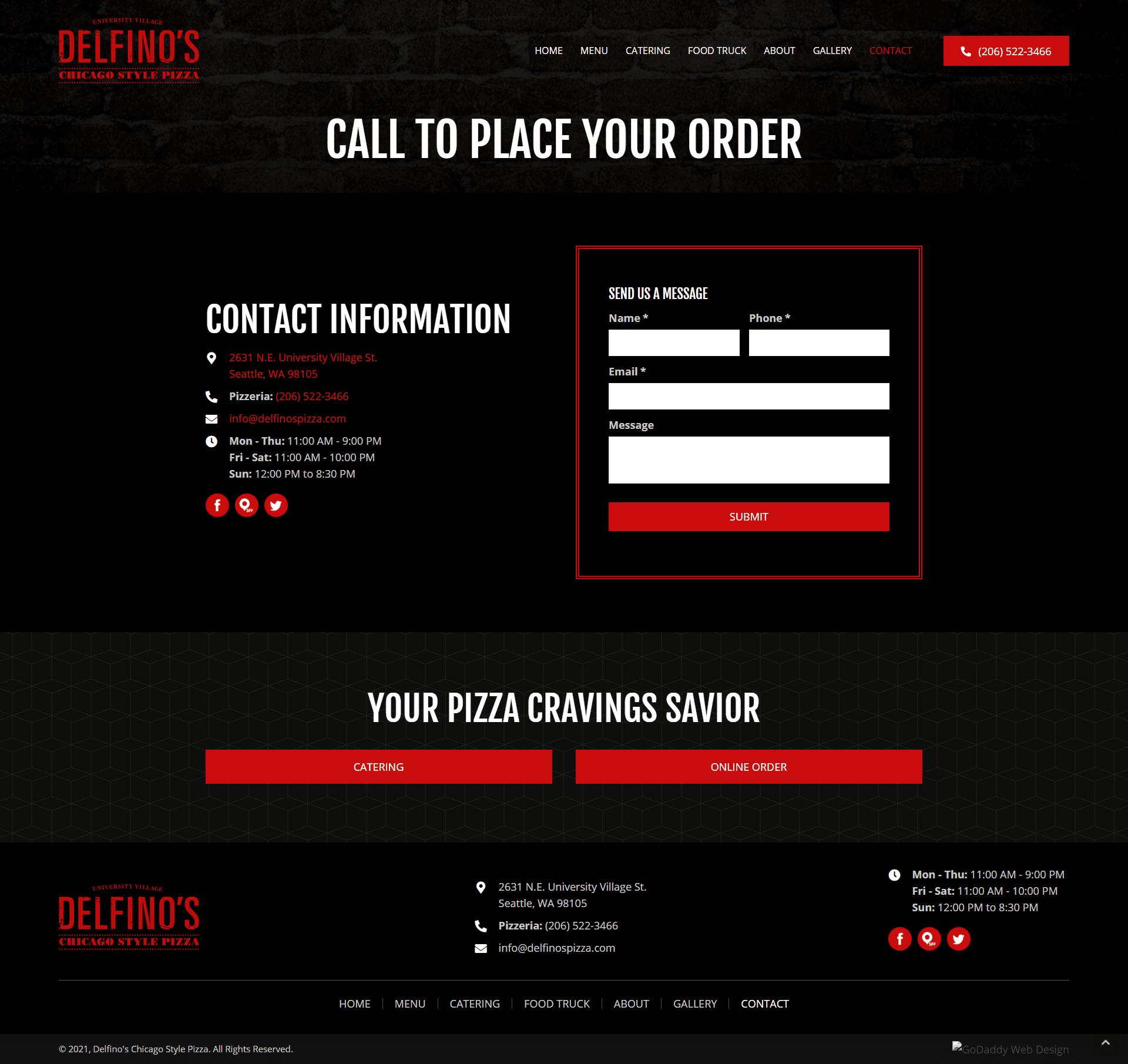 Delfino's Chicago Style Pizza Contact