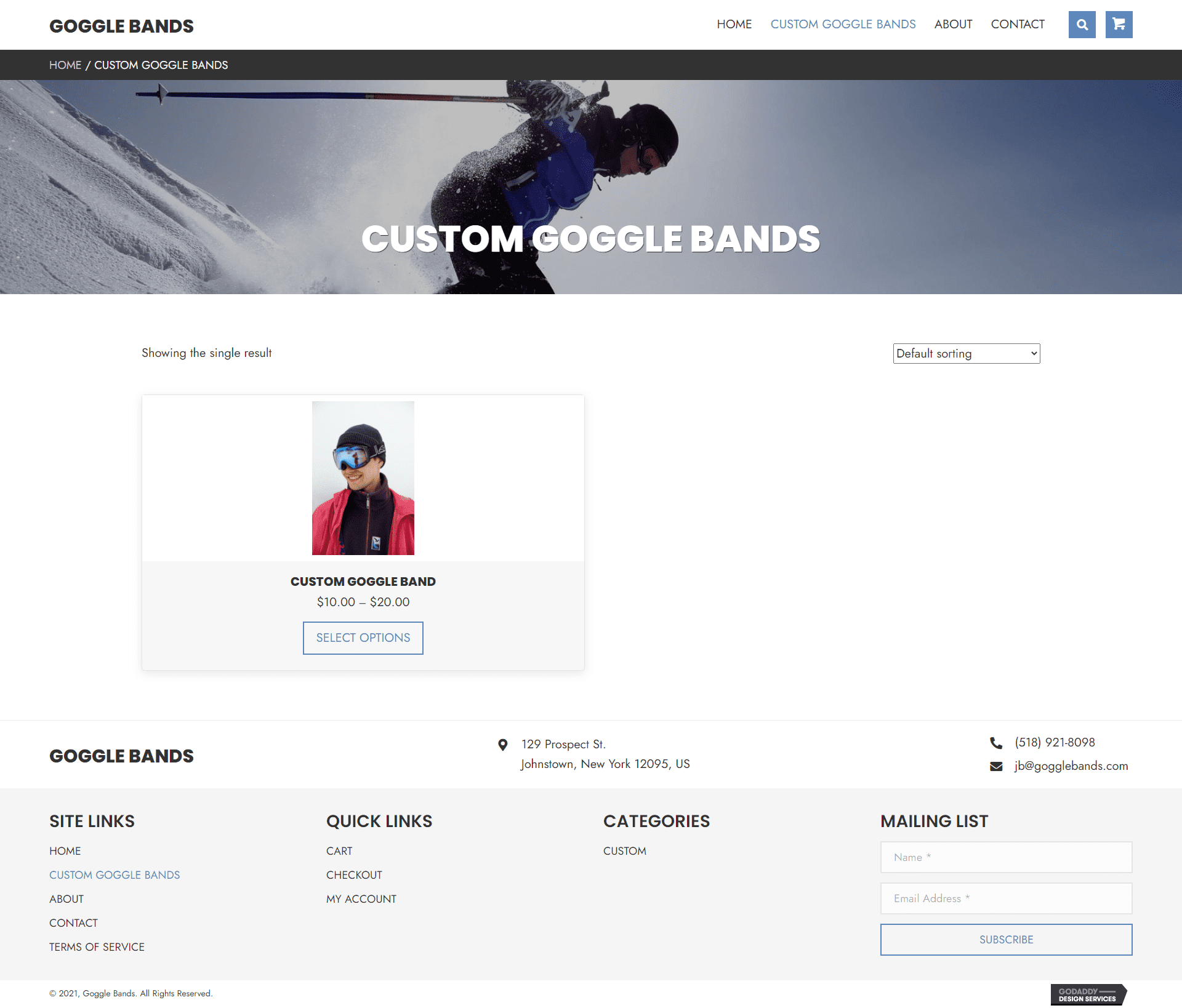 Goggle Bands Shop