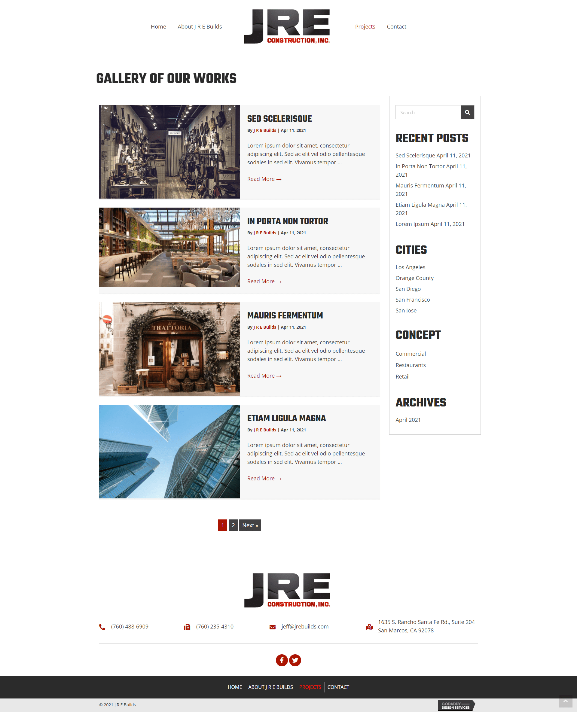 J R E Builds Projects