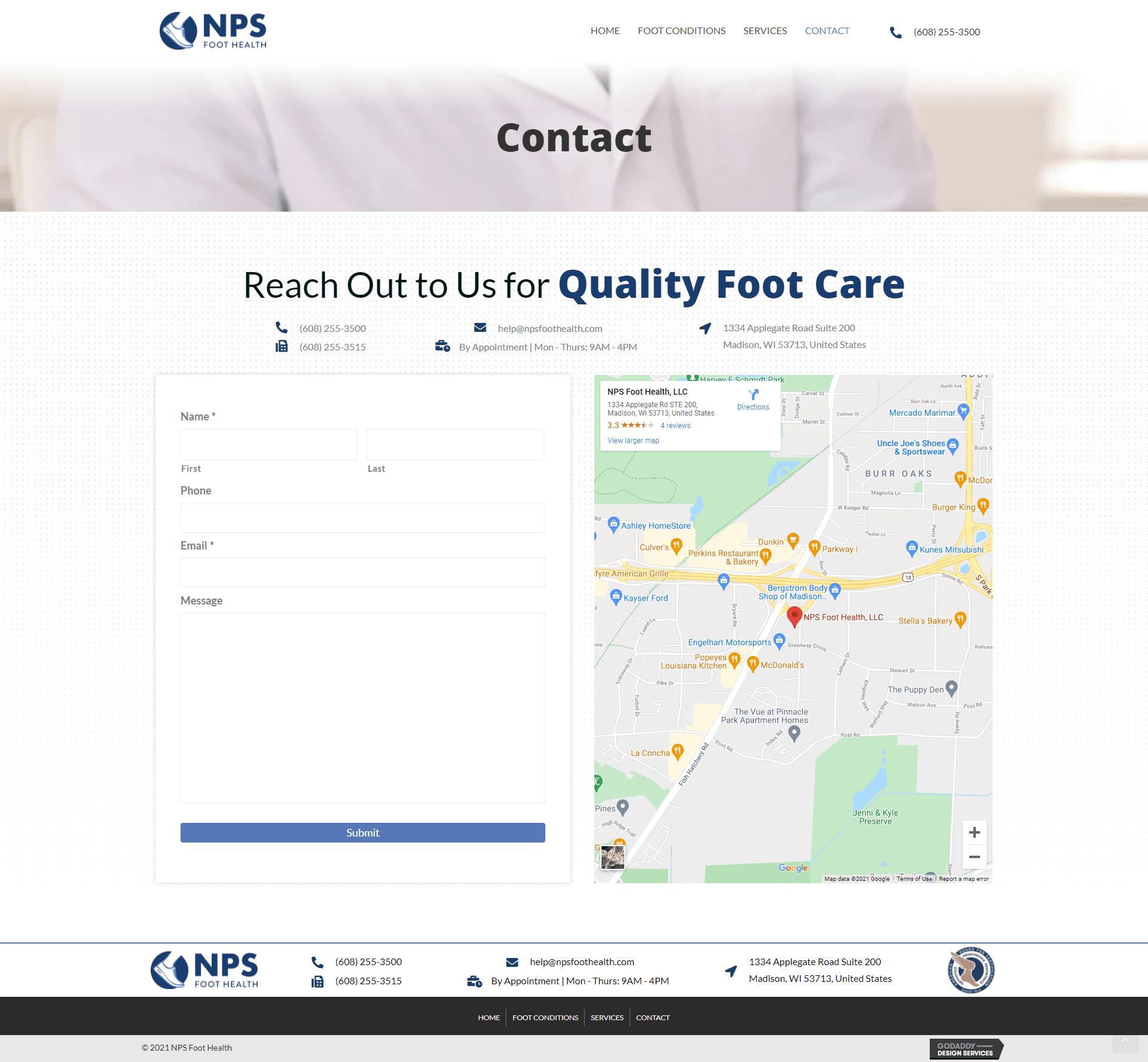 NPS Foot Health Contact