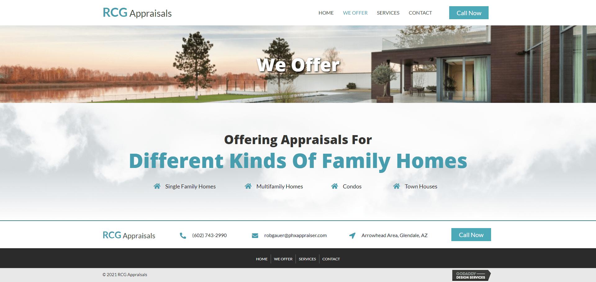 RCG Appraisals Offer