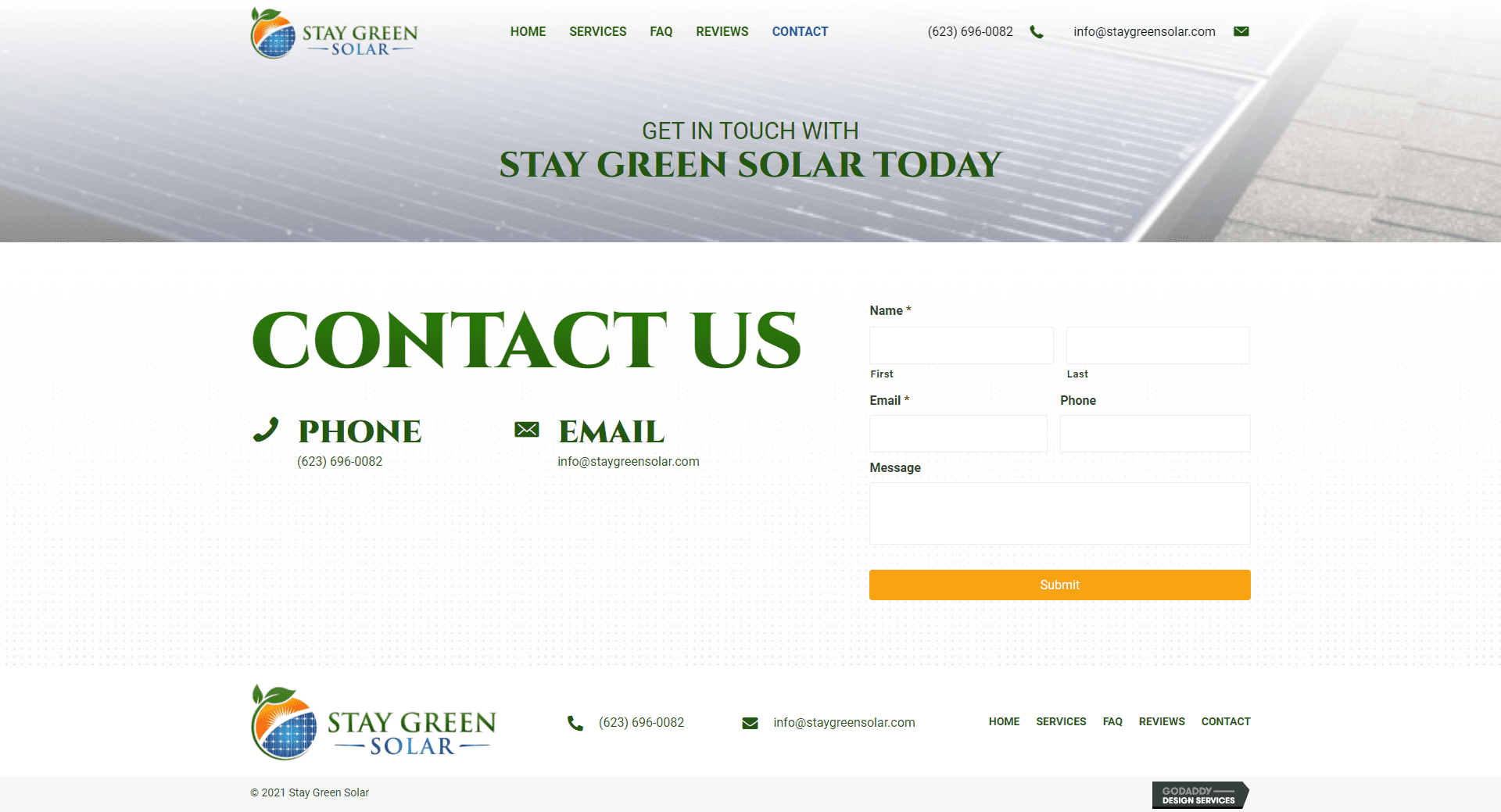 Stay Green Solar Contact