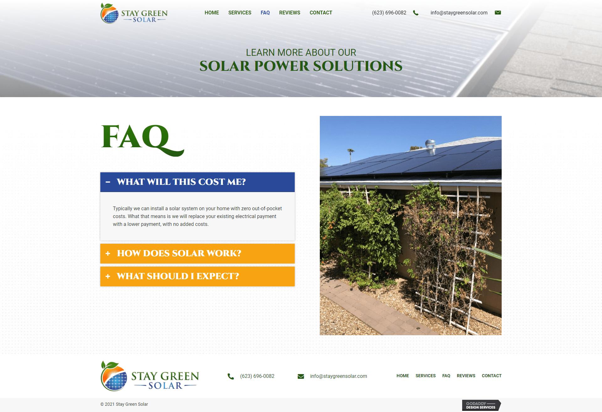 Stay Green Solar FAQ