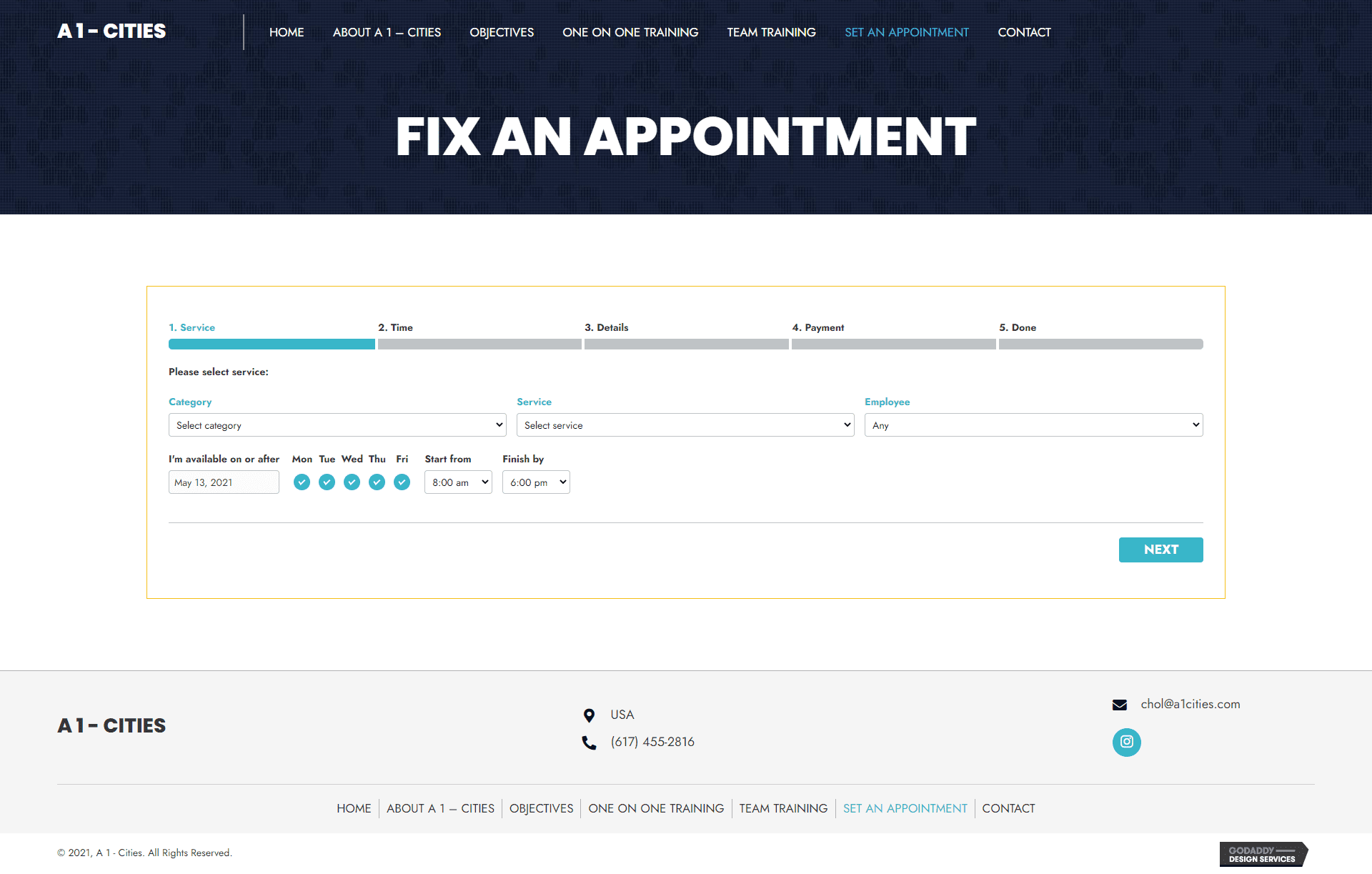 A 1 - Cities Appointment