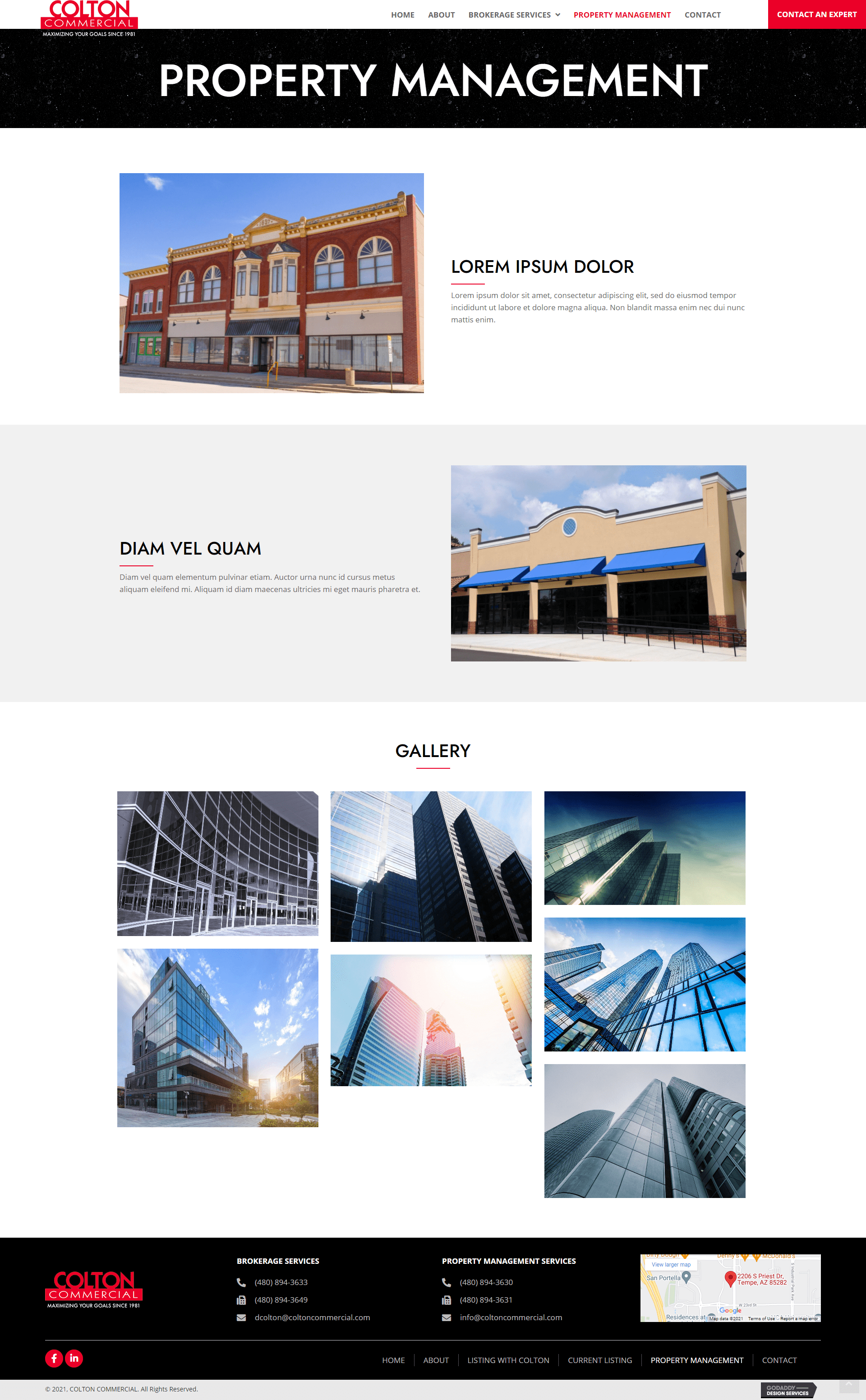 COLTON COMMERCIAL Propery page