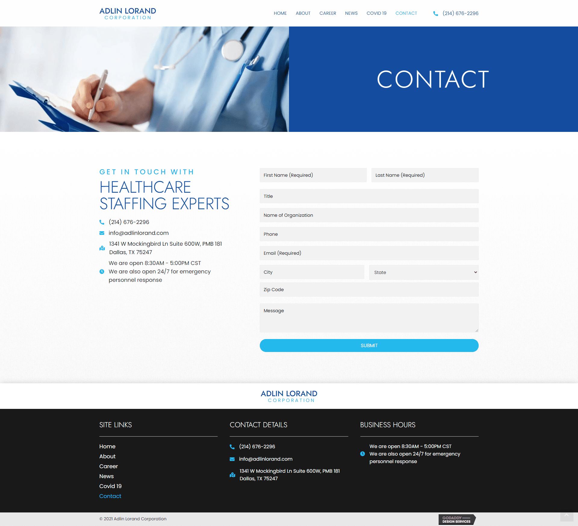 Adlin Lorand Corporation Contact