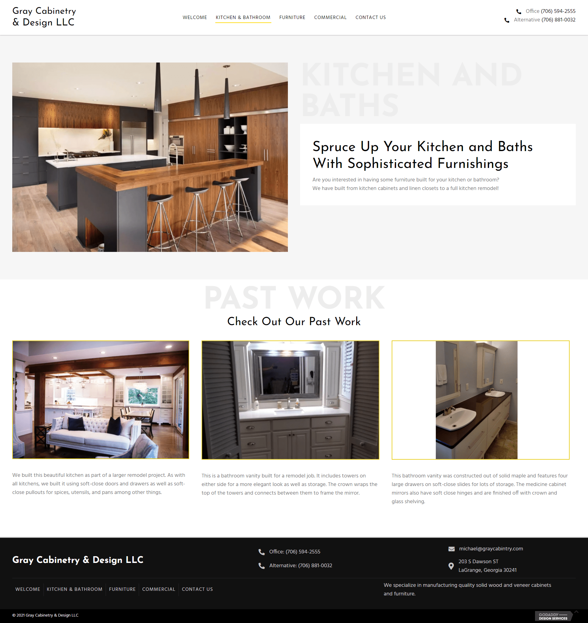 Gray Cabinetry & Design LLC Kitchen Page