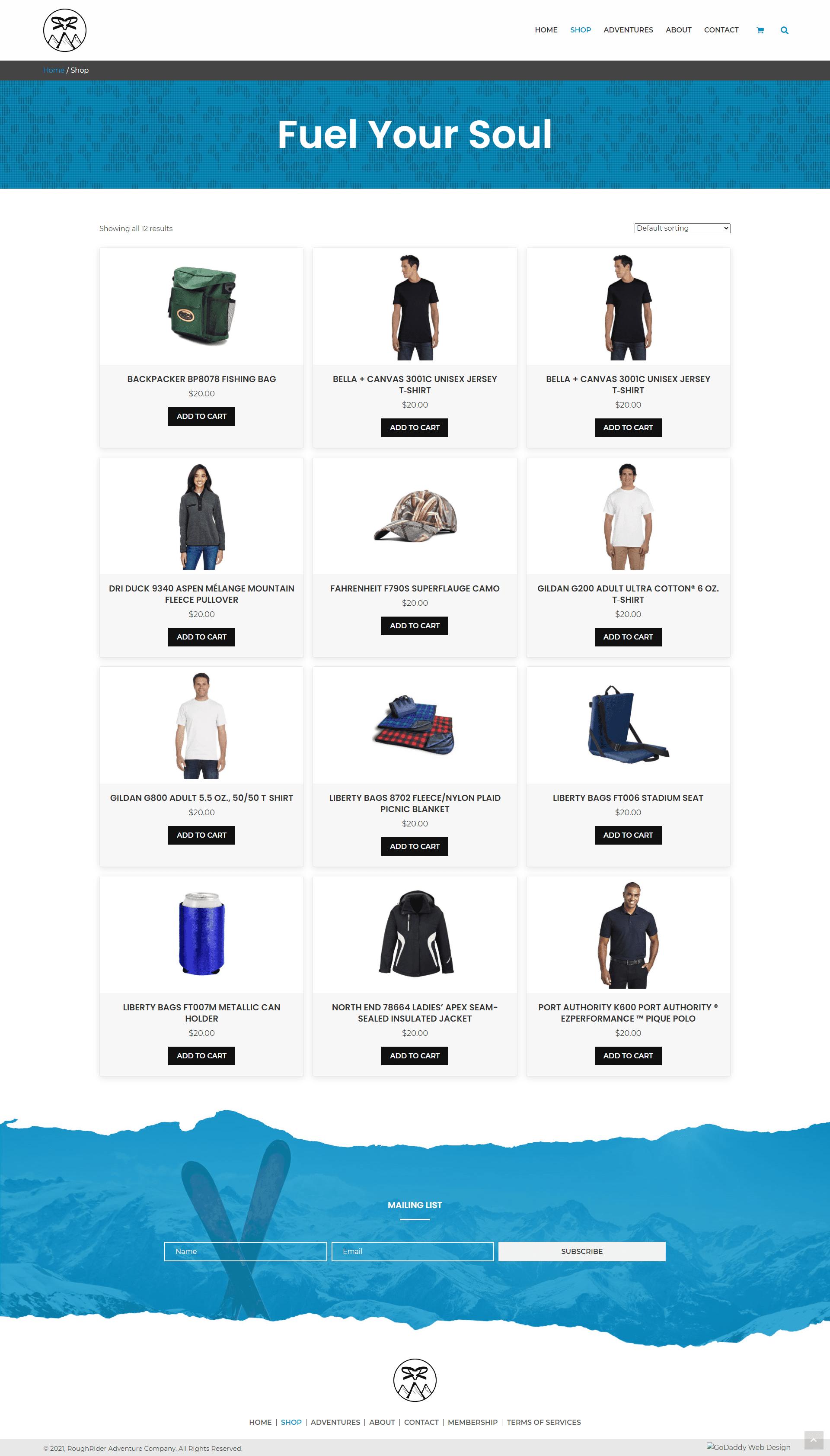 RoughRider Adventure Co Shop