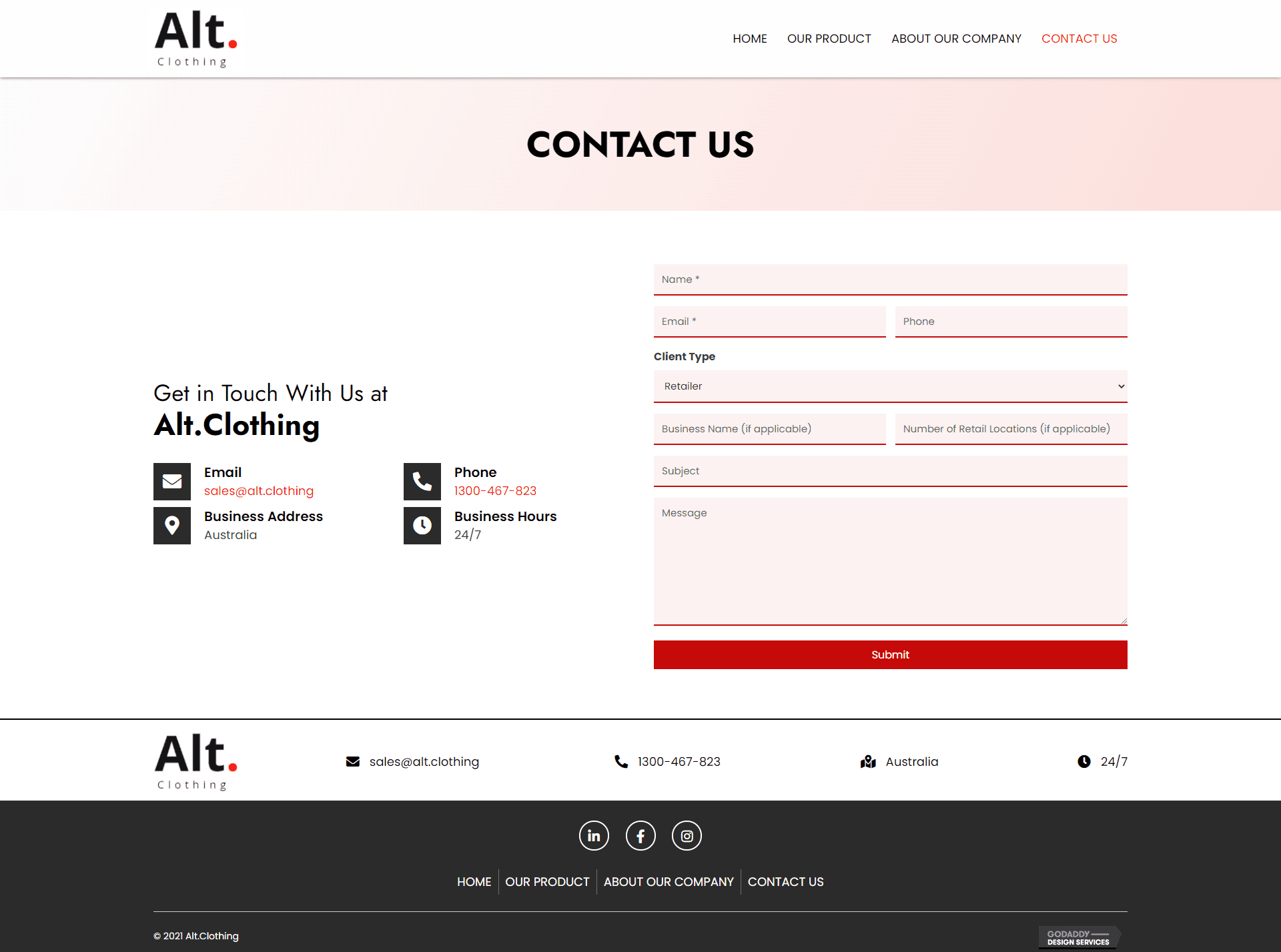 Alt.Clothing Contact