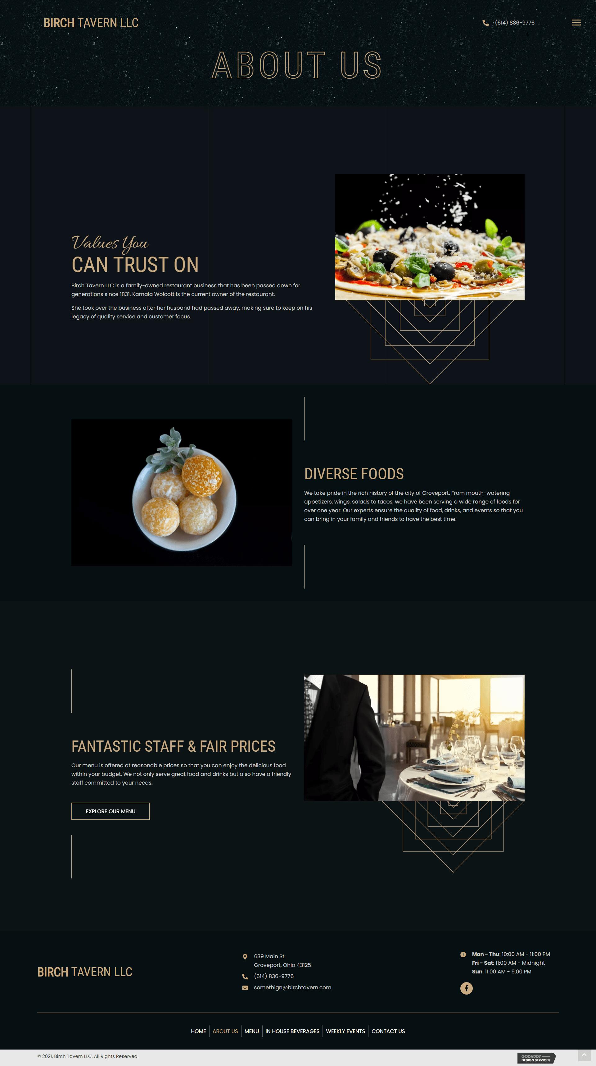 Birch Tavern LLC About