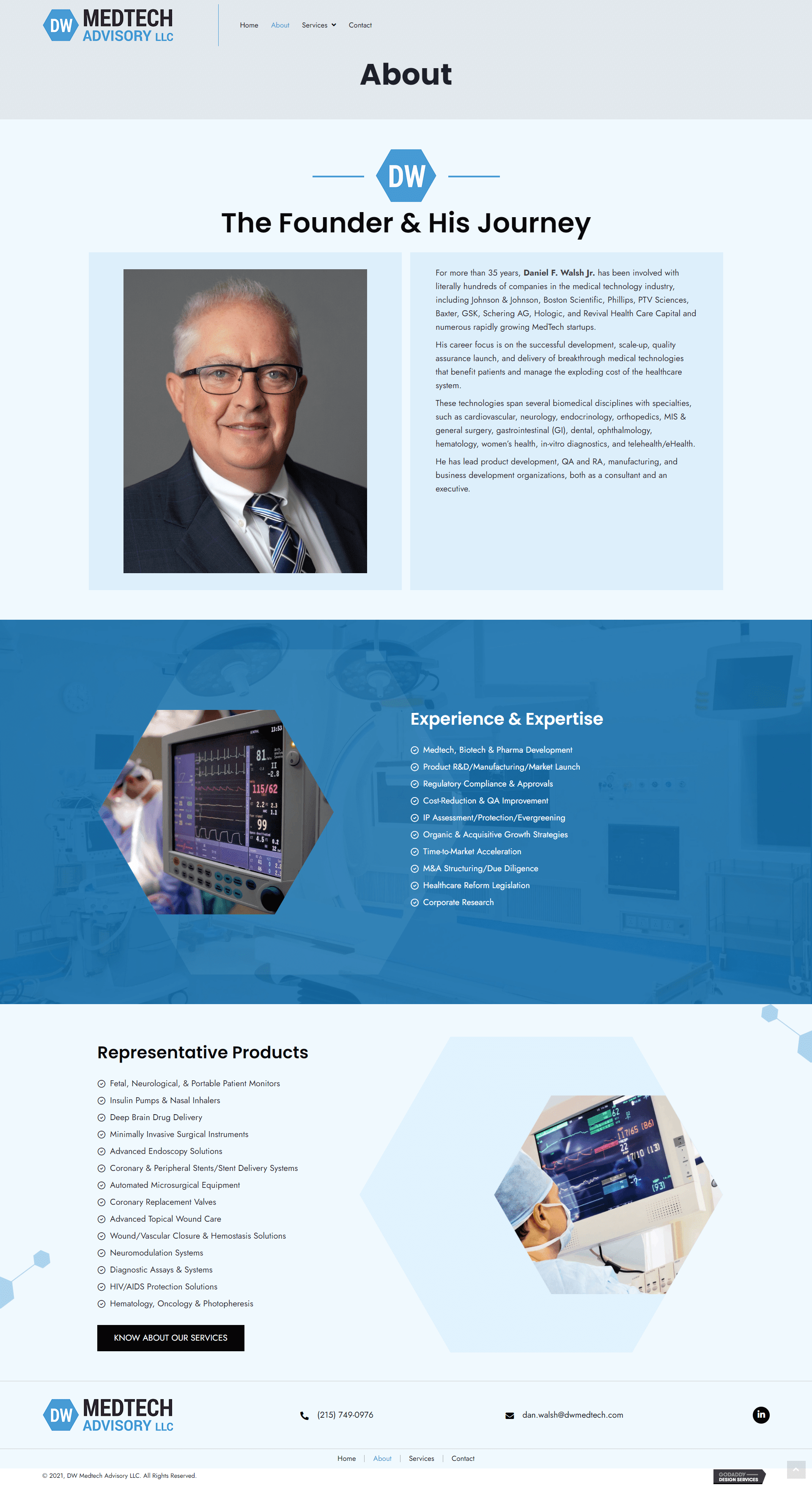 DW Medtech Advisory LLC About
