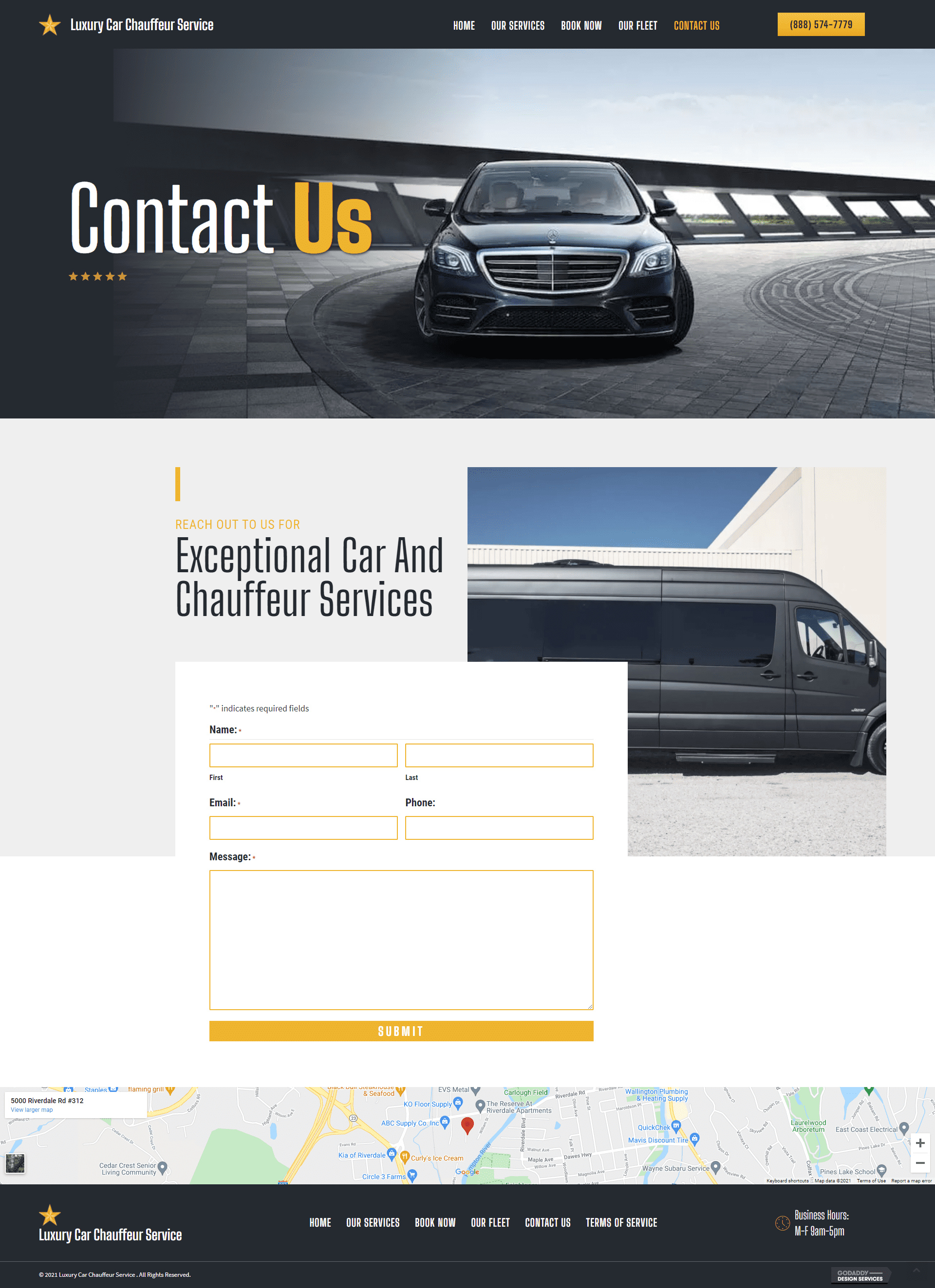 Luxury Car Chauffeur Service Contact